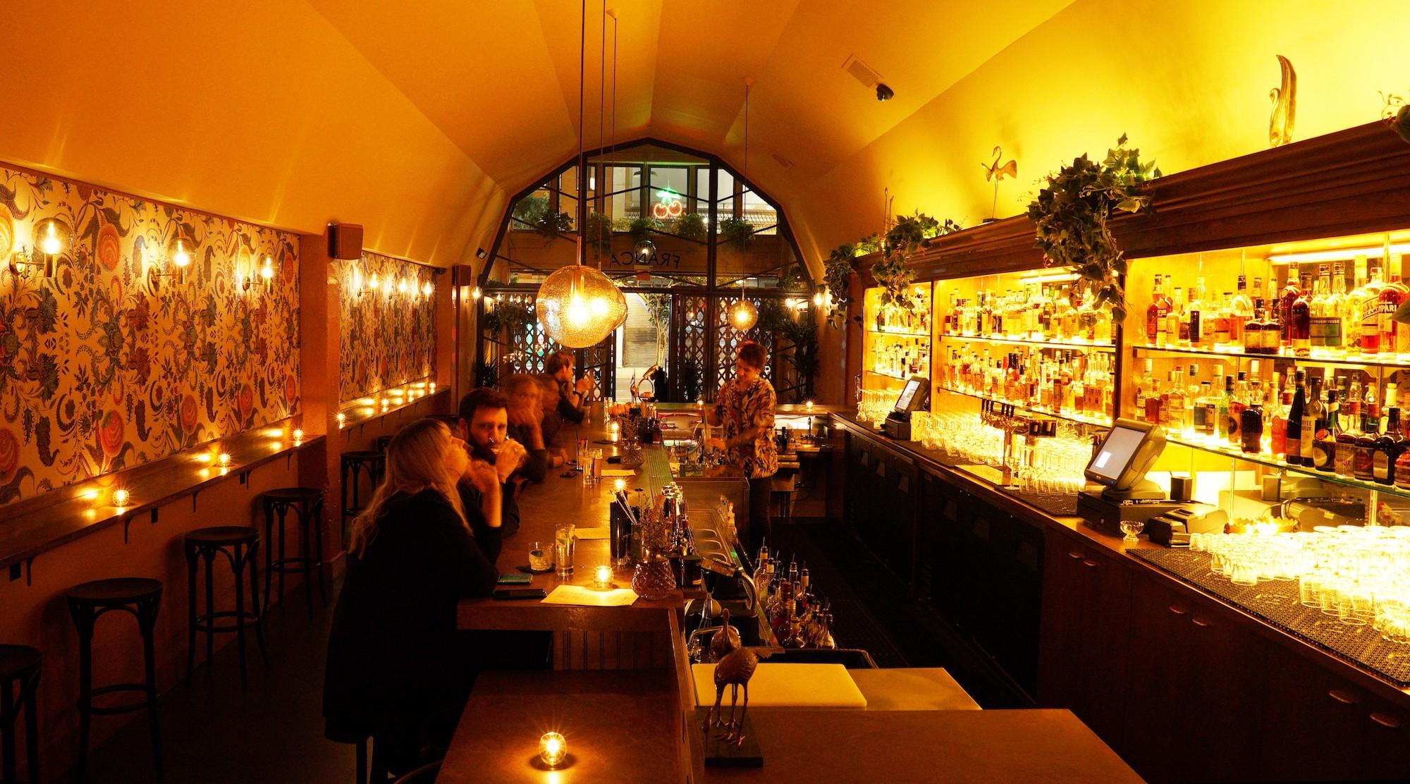 Downtown LA's Newest Drinking Den Glows Bright Along Main Street