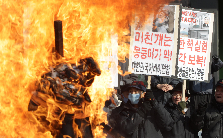 Anti North Korea Protest Continues In Seoul