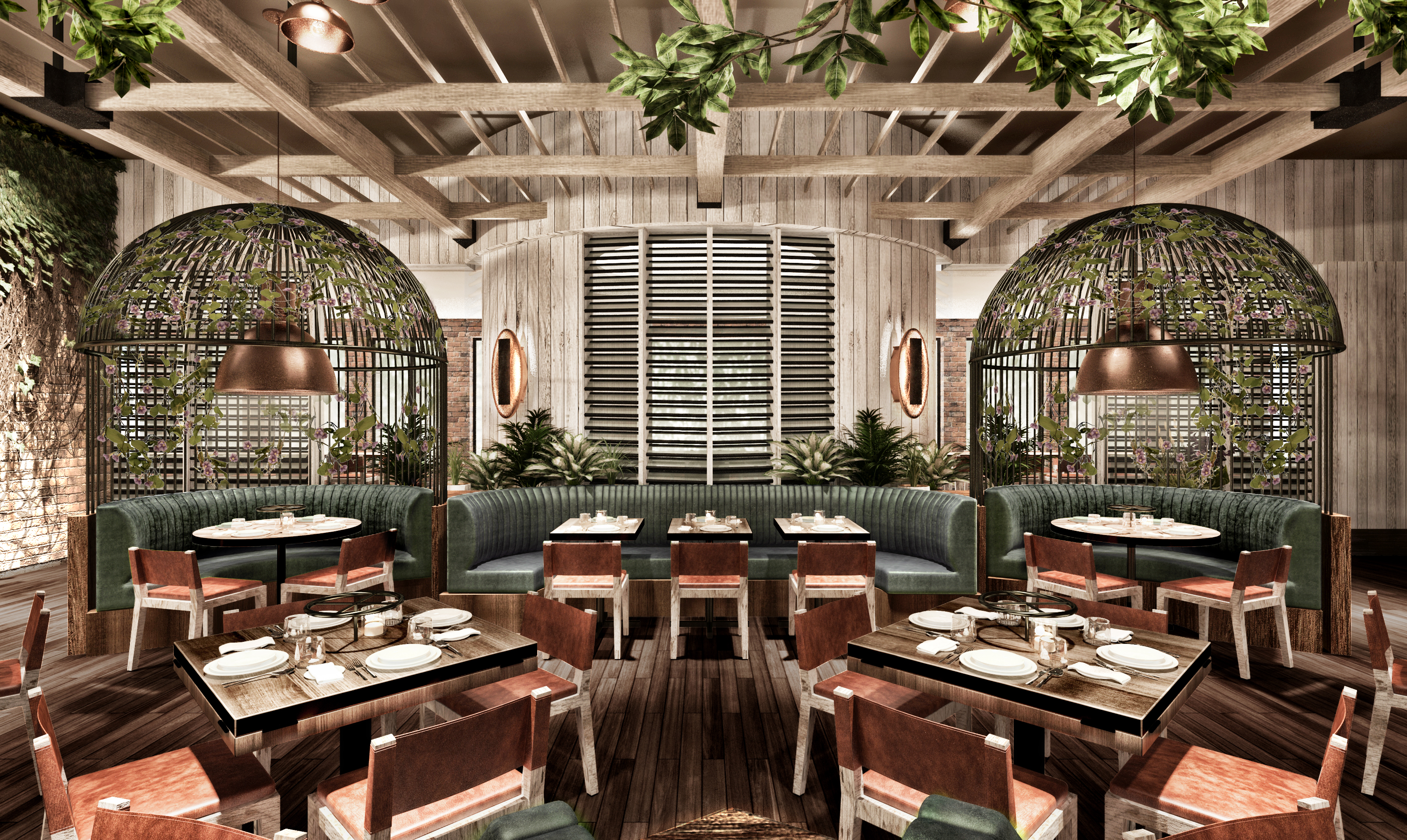 Rendering of the birdcages at Catch