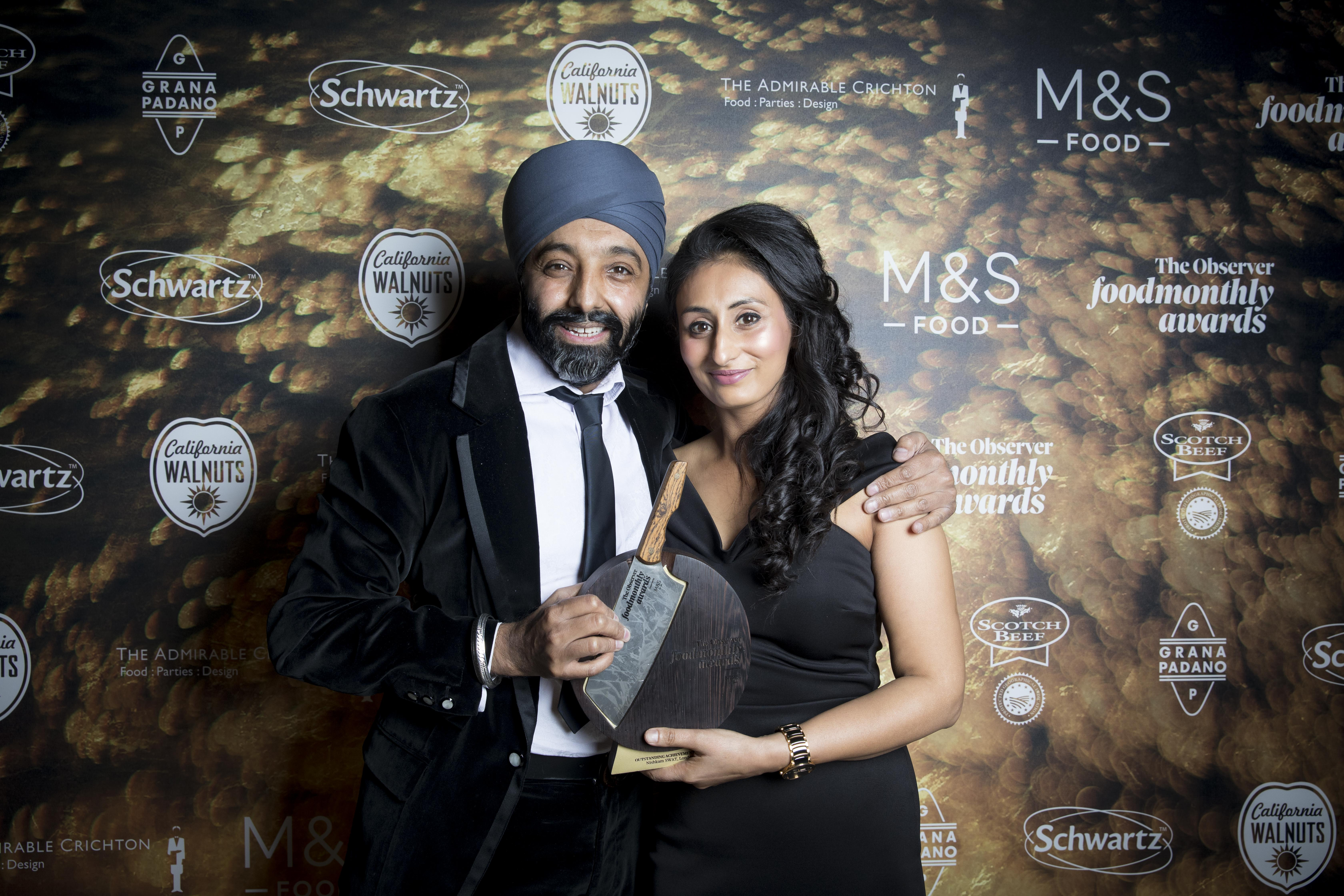 Observer Food Monthly Awards 2018 saw London Sikh charity Nishkam SWAT win Outstanding Achievement Award