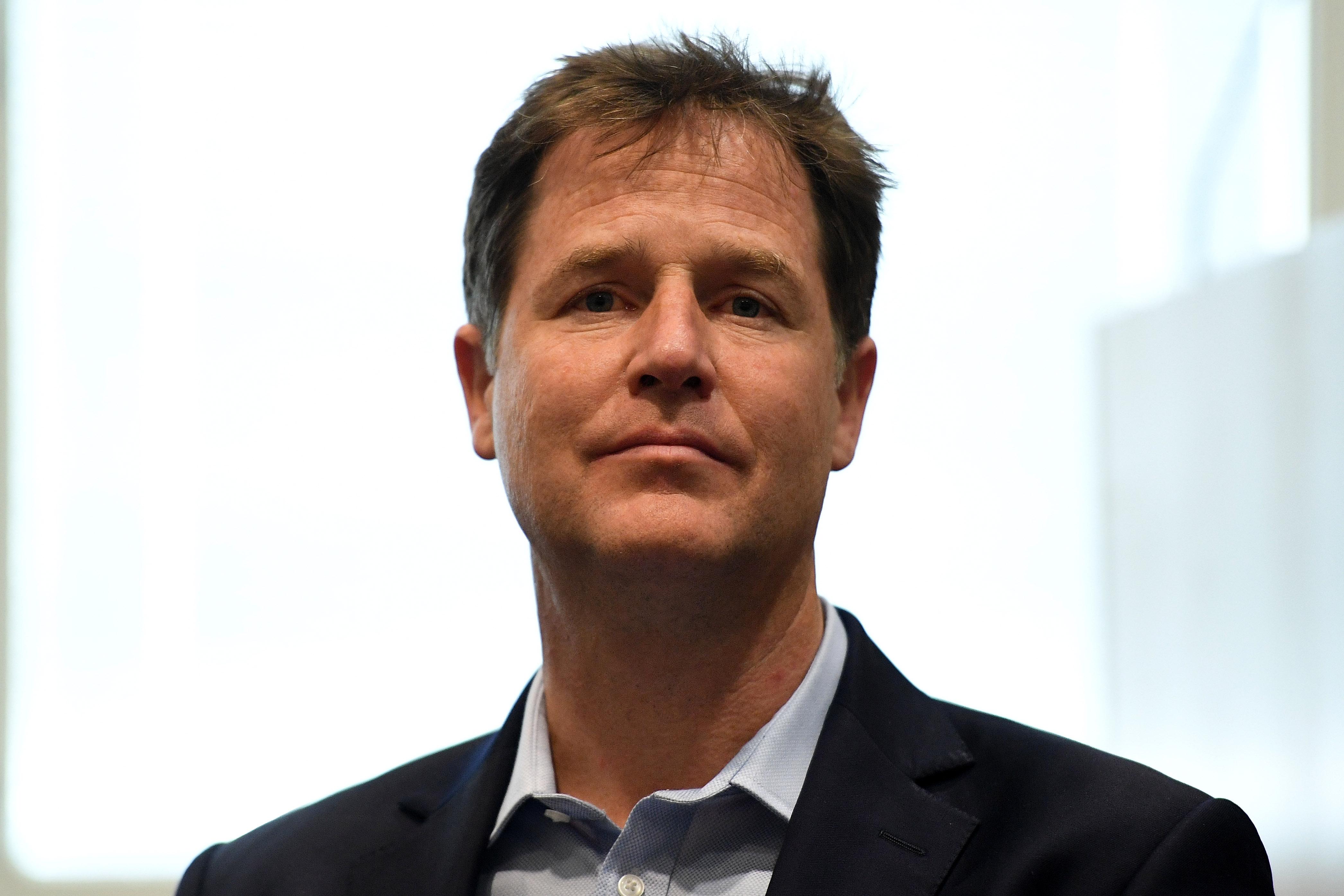 former U.K. Deputy Prime Minister Nick Clegg