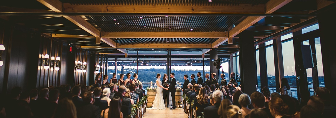A wedding scene at District Winery