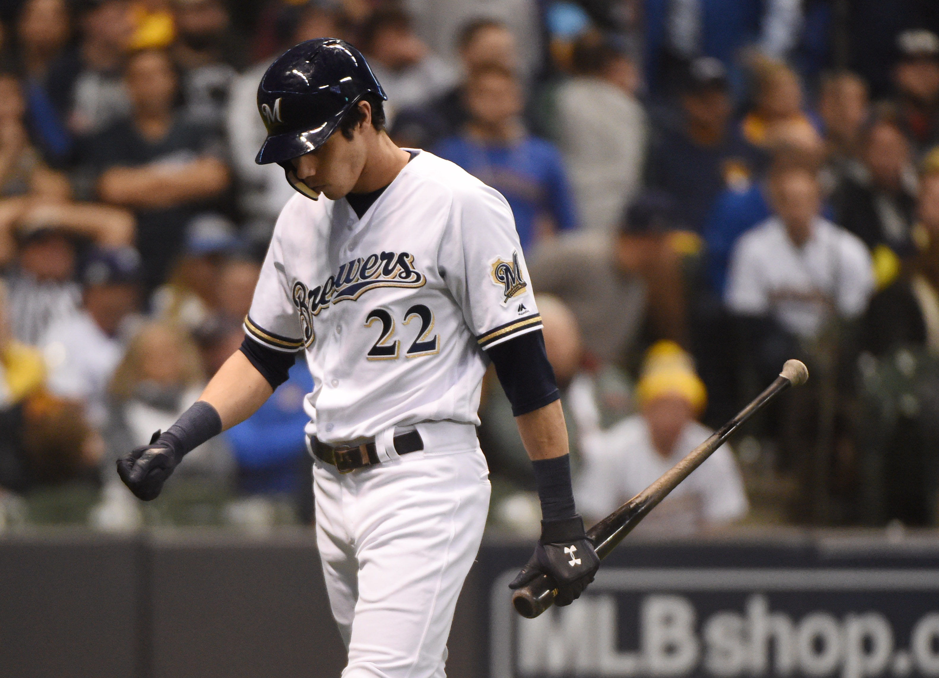 Christian Yelich all but disappeared in the NLCS