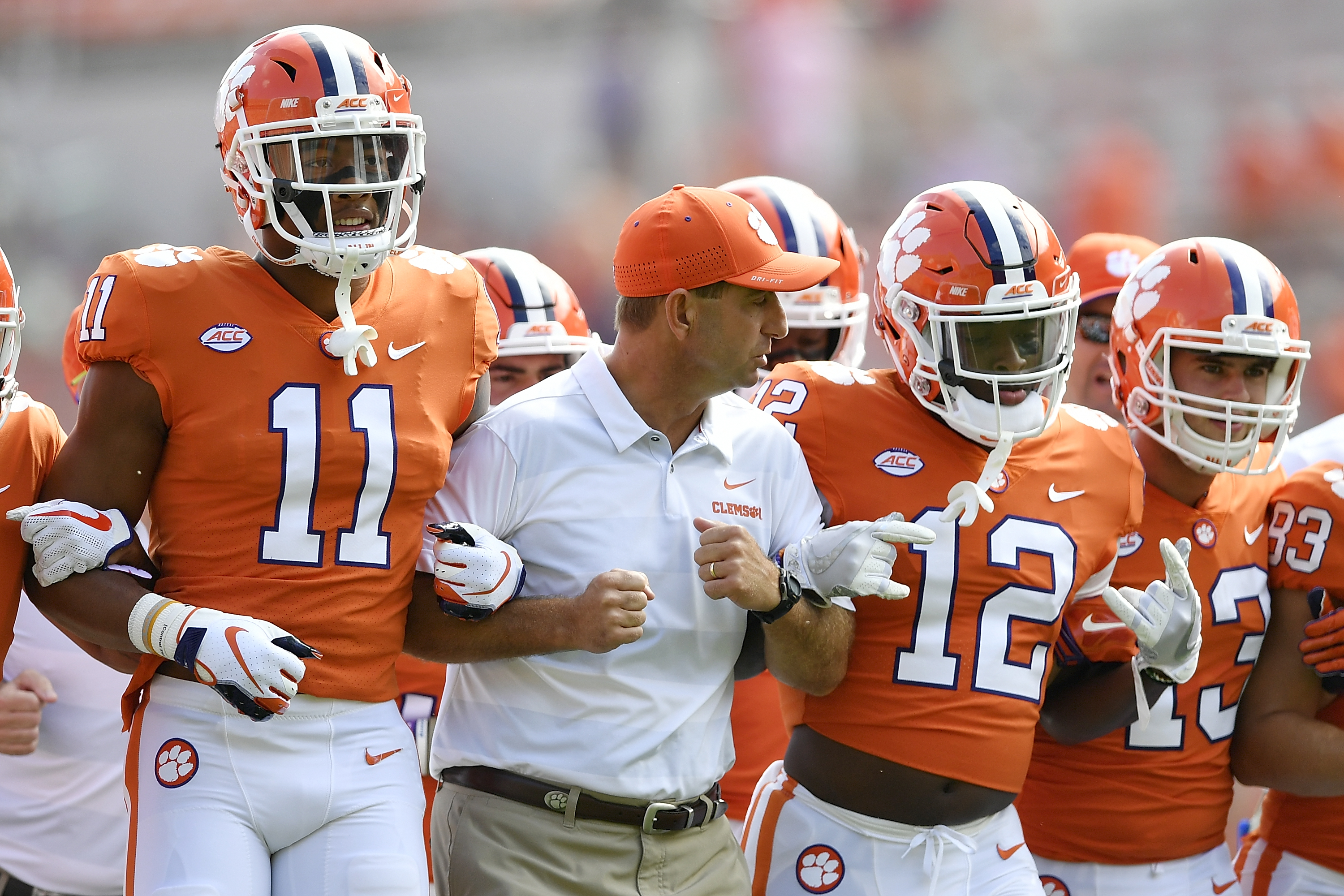 Clemson lets almost the whole roster play, destroys good teams anyway