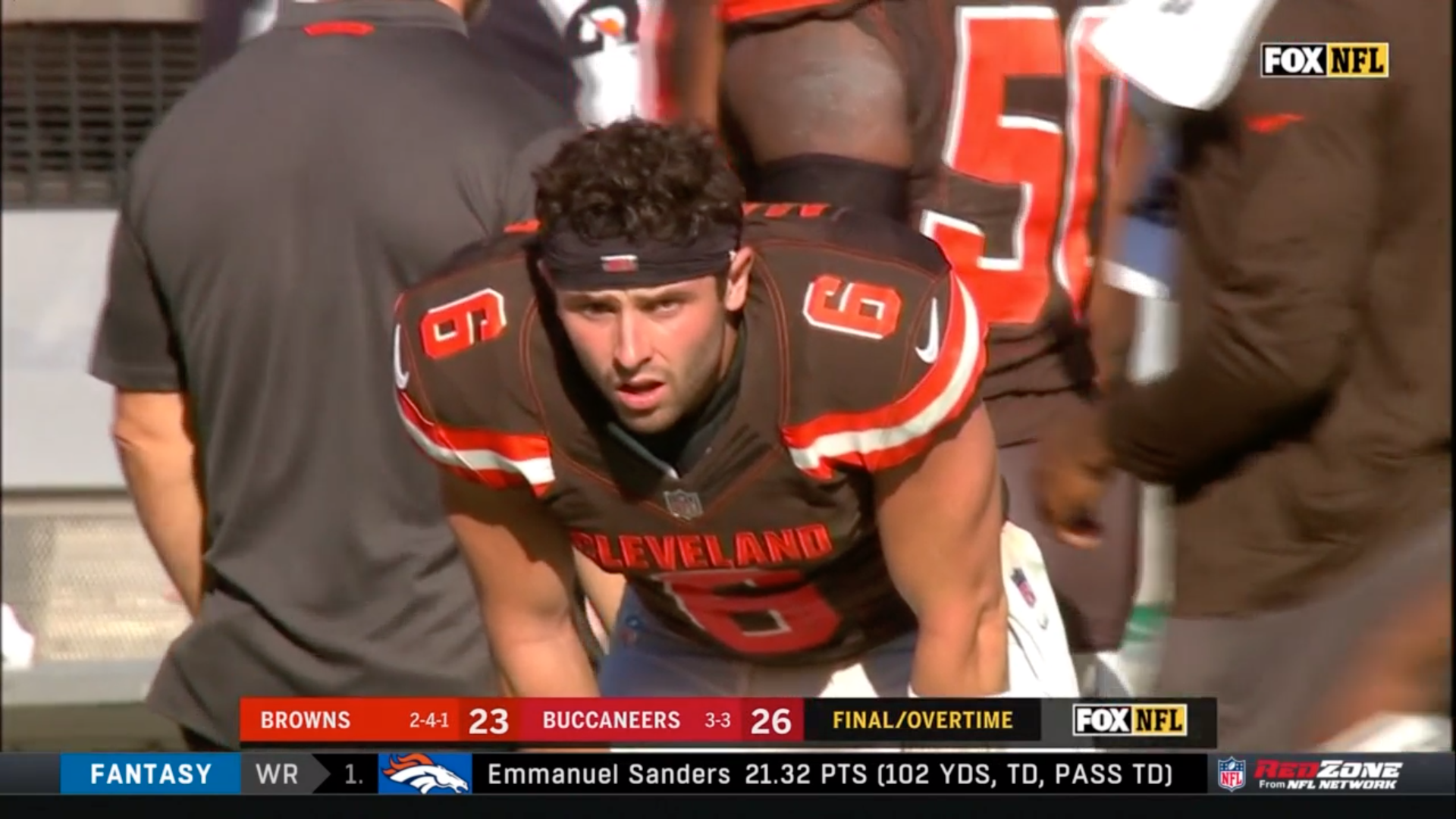 Baker Mayfield's face is the newest meme after the Browns lost in OT