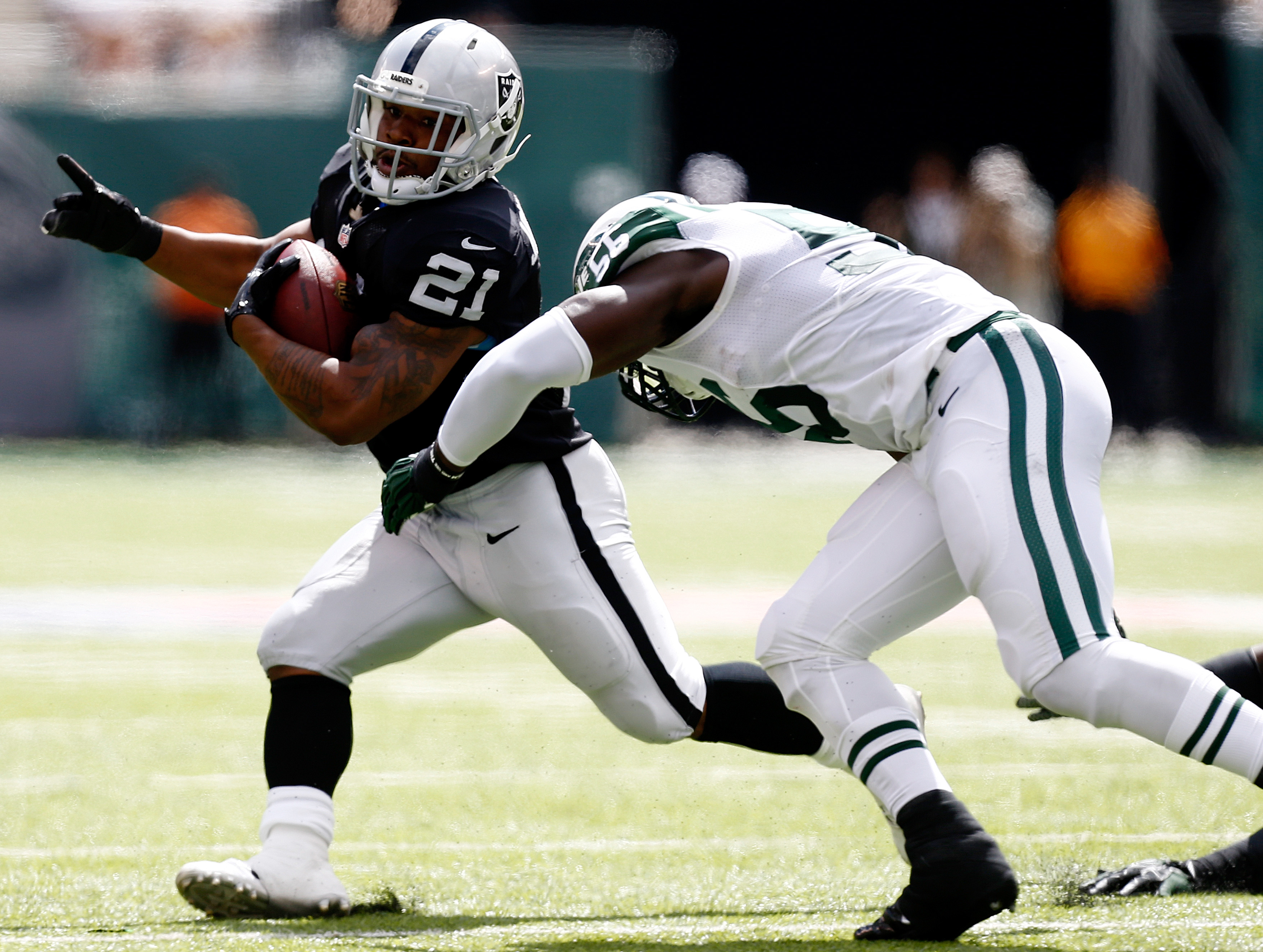 Maurice Jones-Drew when he played for the Oakland Raiders