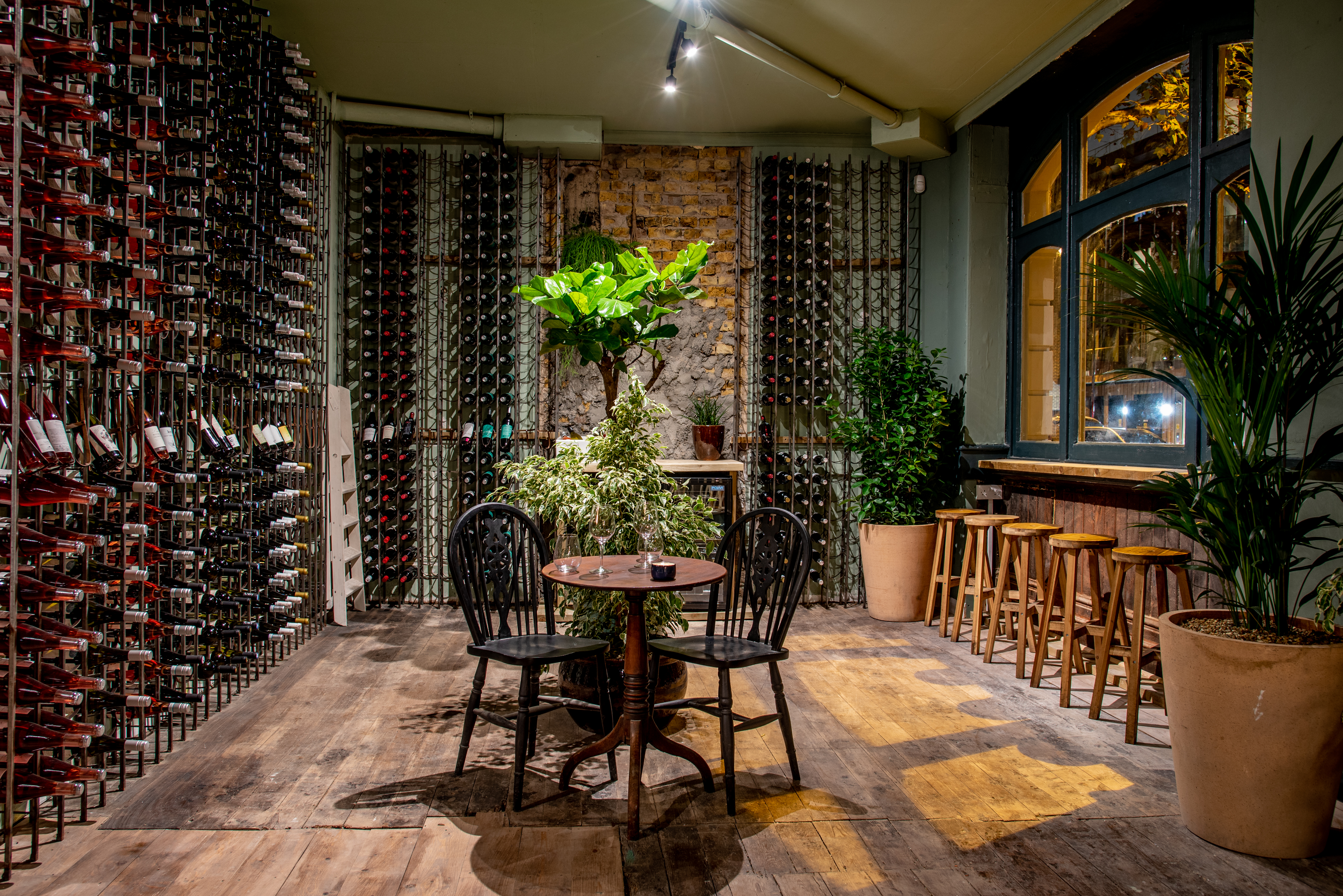 Wine-lined interiors at Diogenes the Dog, a new wine bar for London in Elephant and Castle