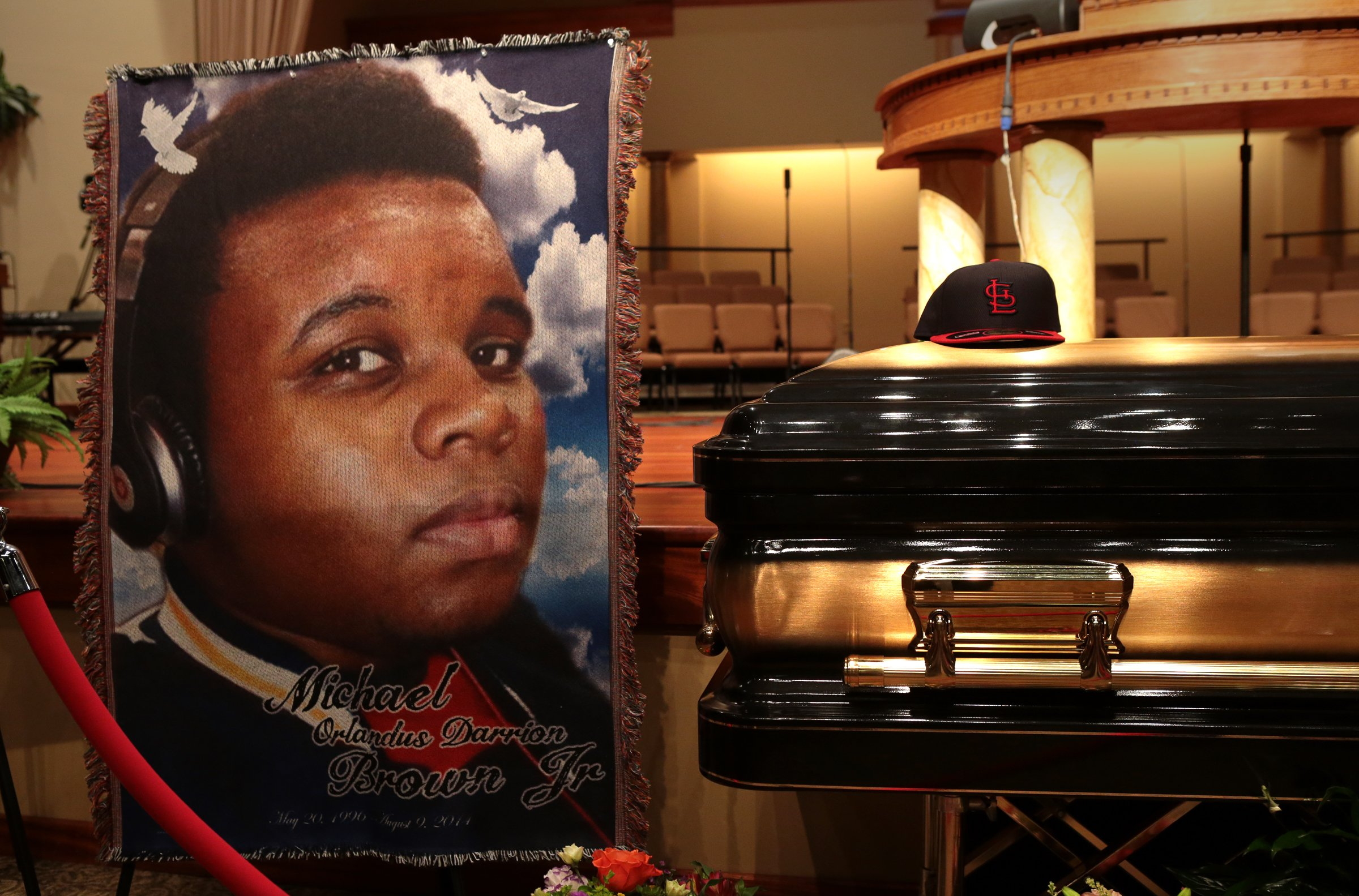 The funeral for Michael Brown in St. Louis, Missouri.