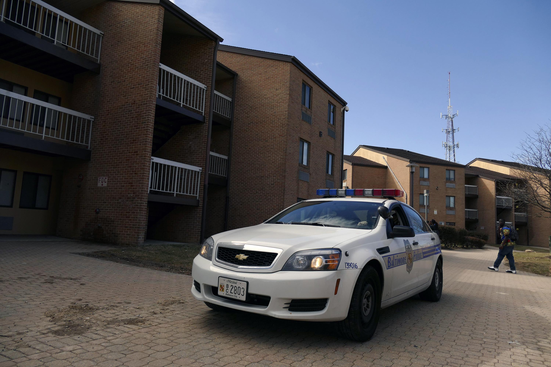 A Baltimore police car.
