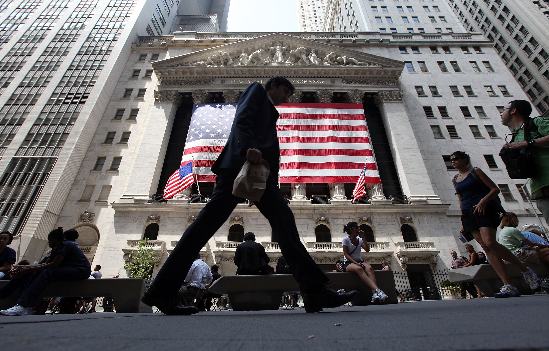Stock markets in New York City.
