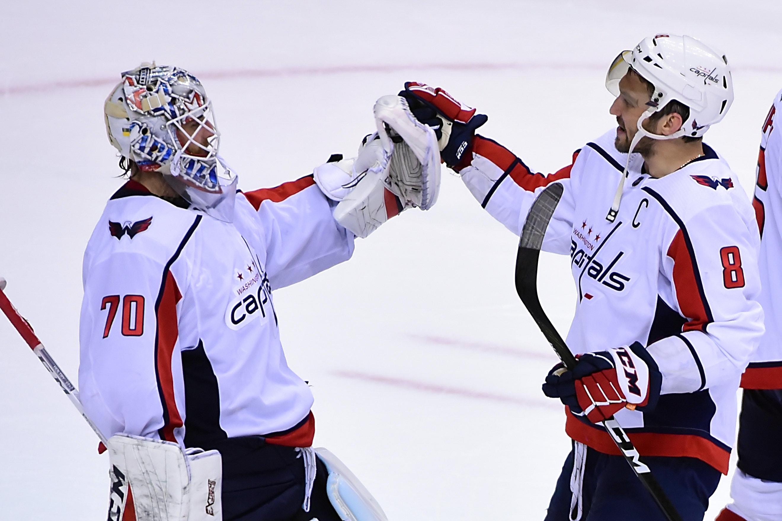 NHL: Washington Capitals at Vancouver Canucks