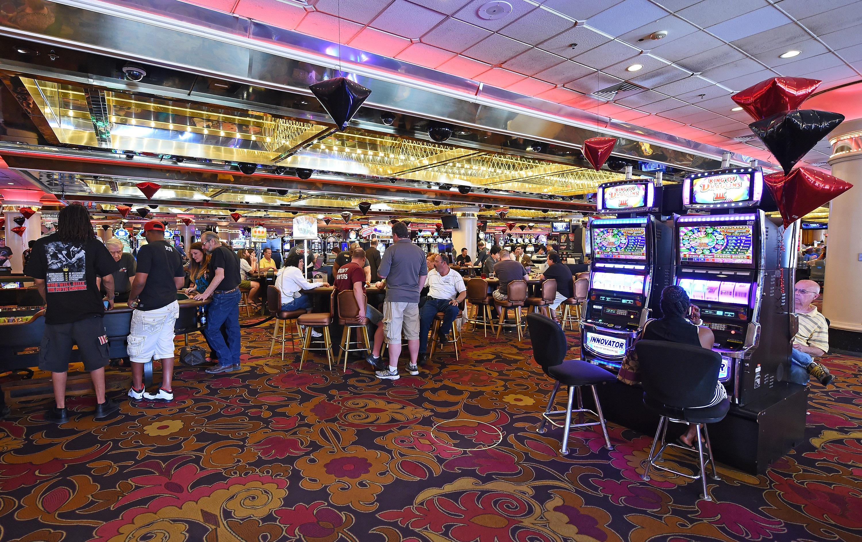 a photo of a casino floor