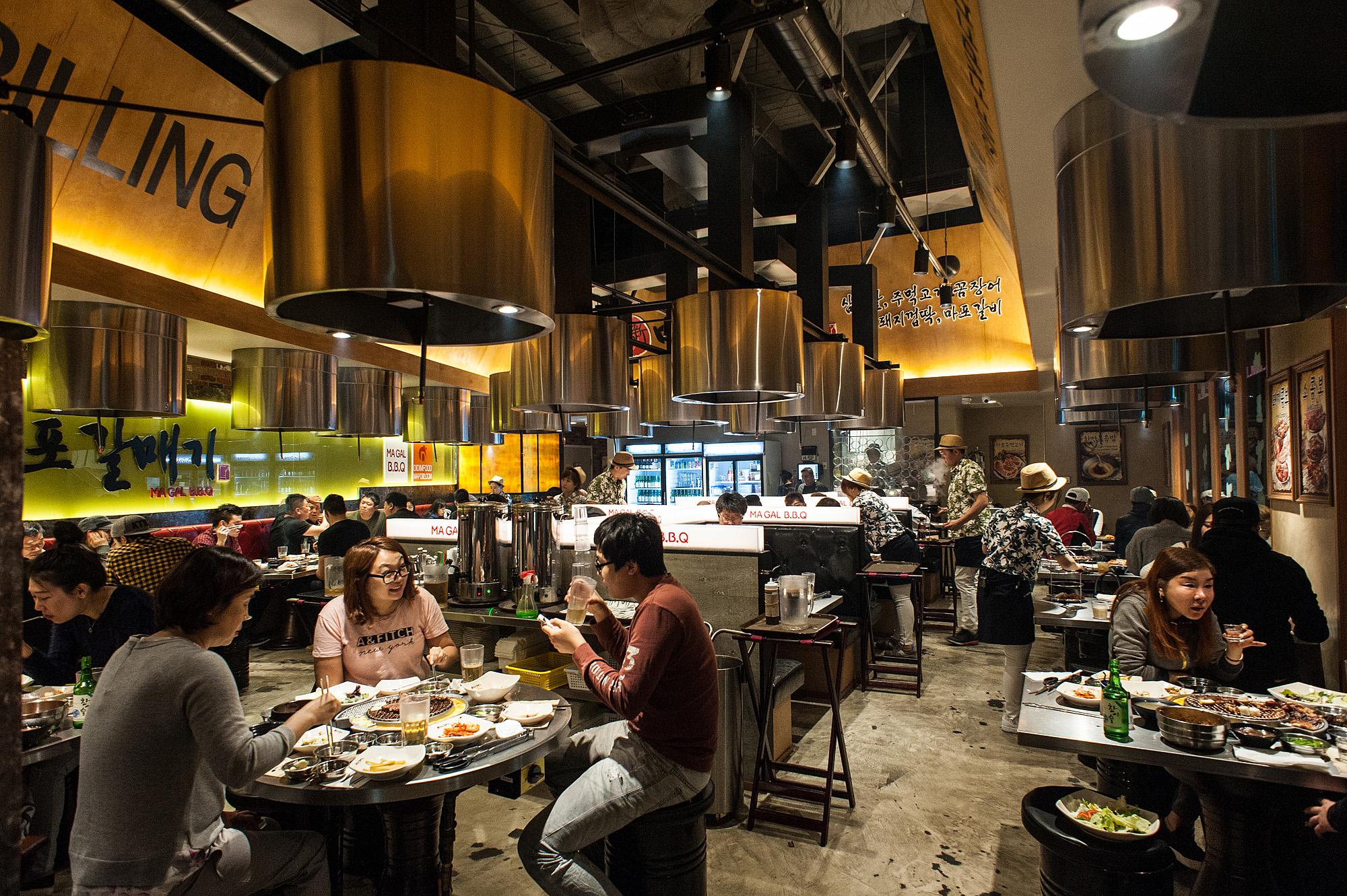 Inside Magal BBQ, Koreatown
