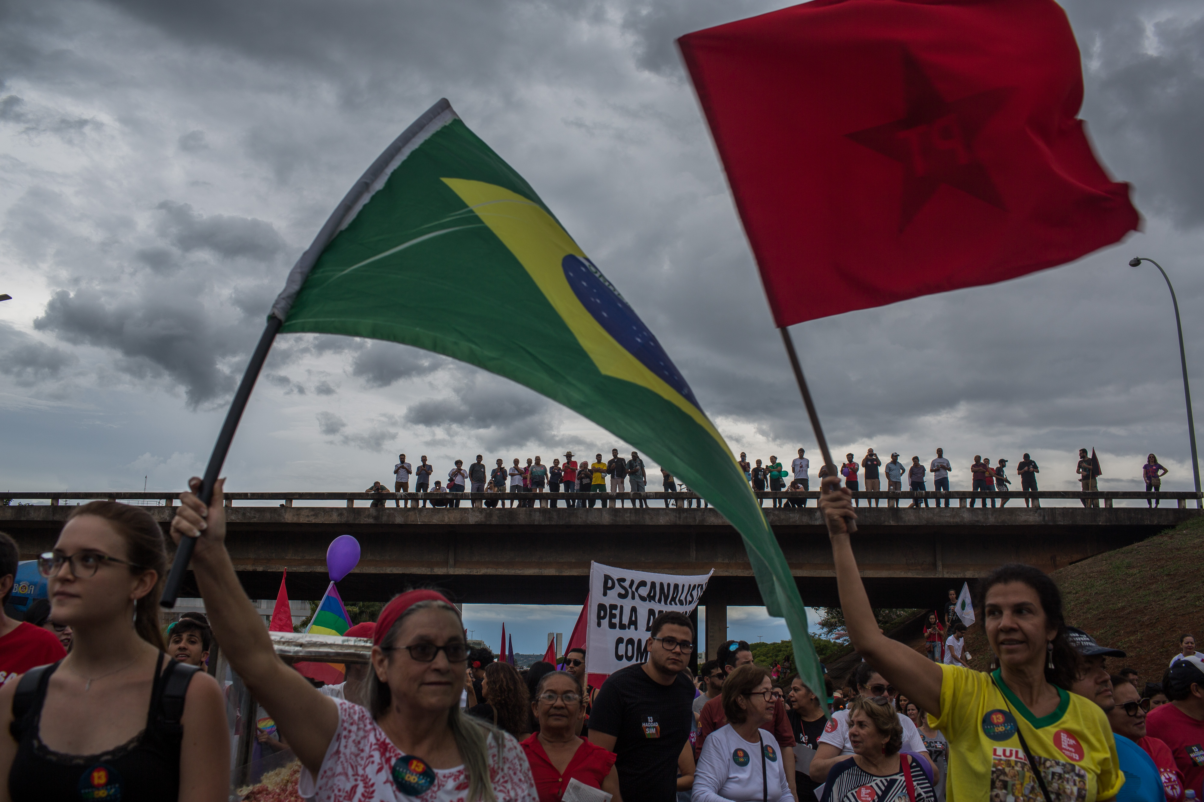 Protestors Rally Across Brazil Against Presidential Candidate Jair Bolsonaro