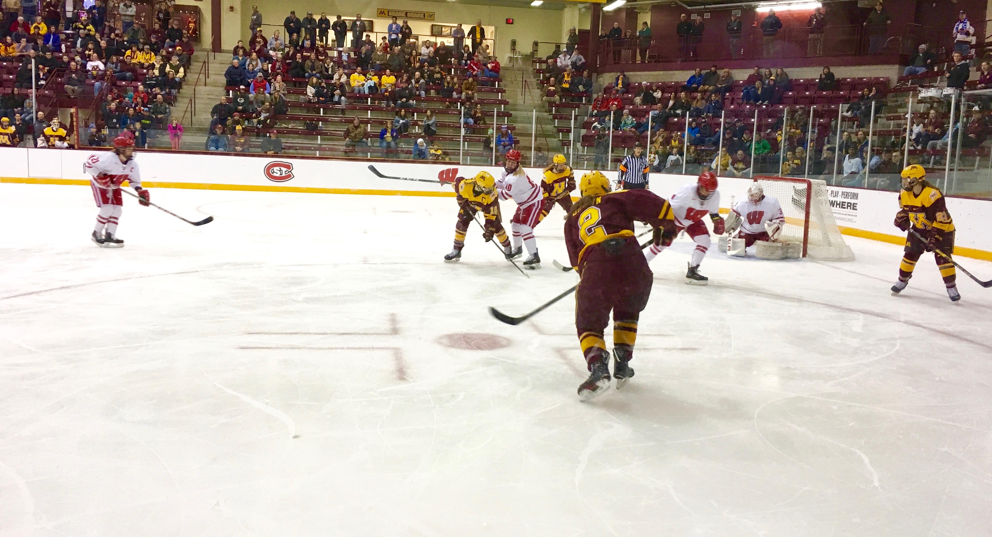 WCHA: Women - Emily Brown's Third-period Goal Lifts No. 3 Minnesota Past Top-ranked Wisconsin Women's Hockey Team