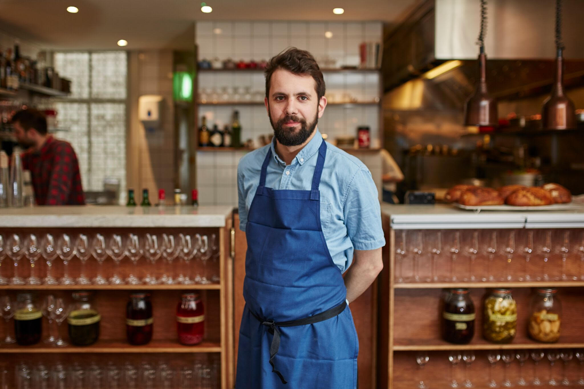Chef Merlin Labron-Johnson, who will depart his debut London Michelin star restaurant Portland in search of a new restaurant