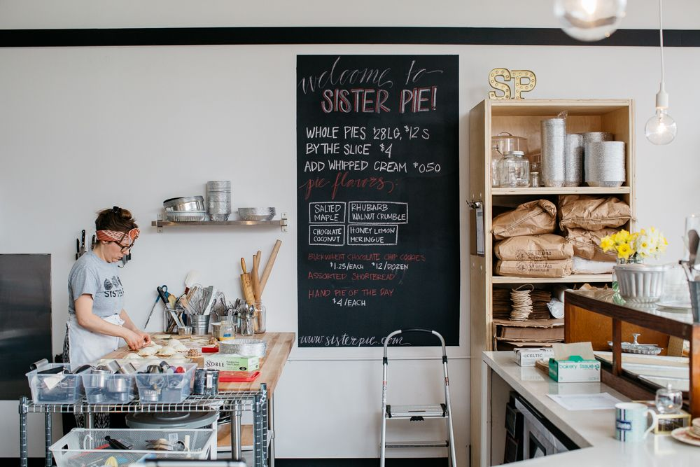Lisa Ludwinskiat work at Sister Pie in Detroit