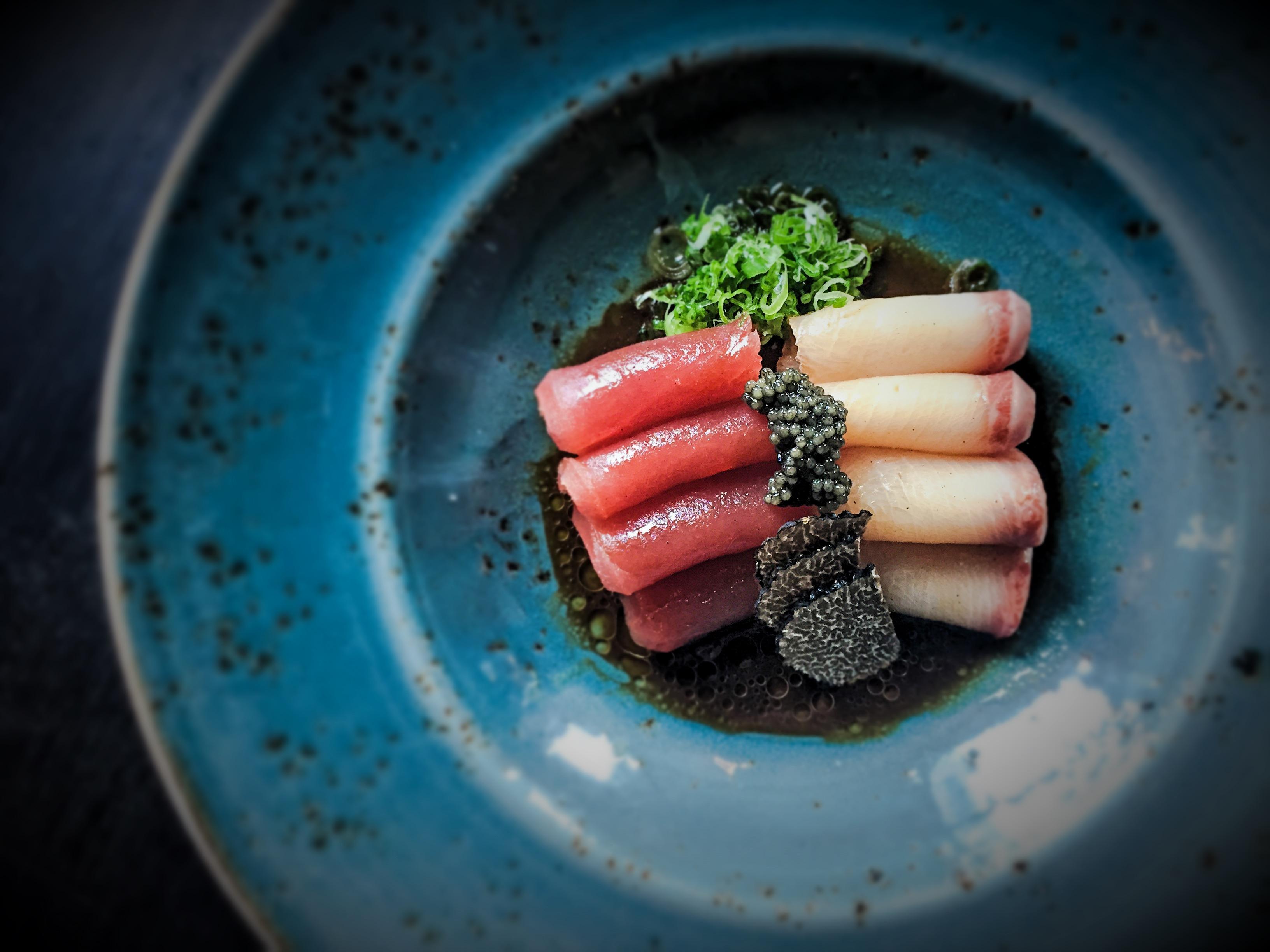 Truffle sashimi at Catch