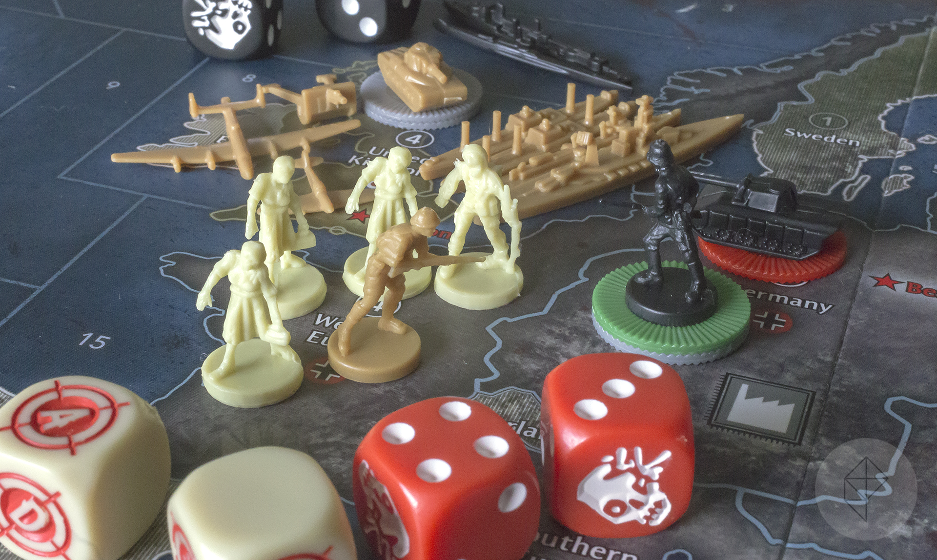 Axis & Allies & Zombies reinvents the classic board game with one small tweak