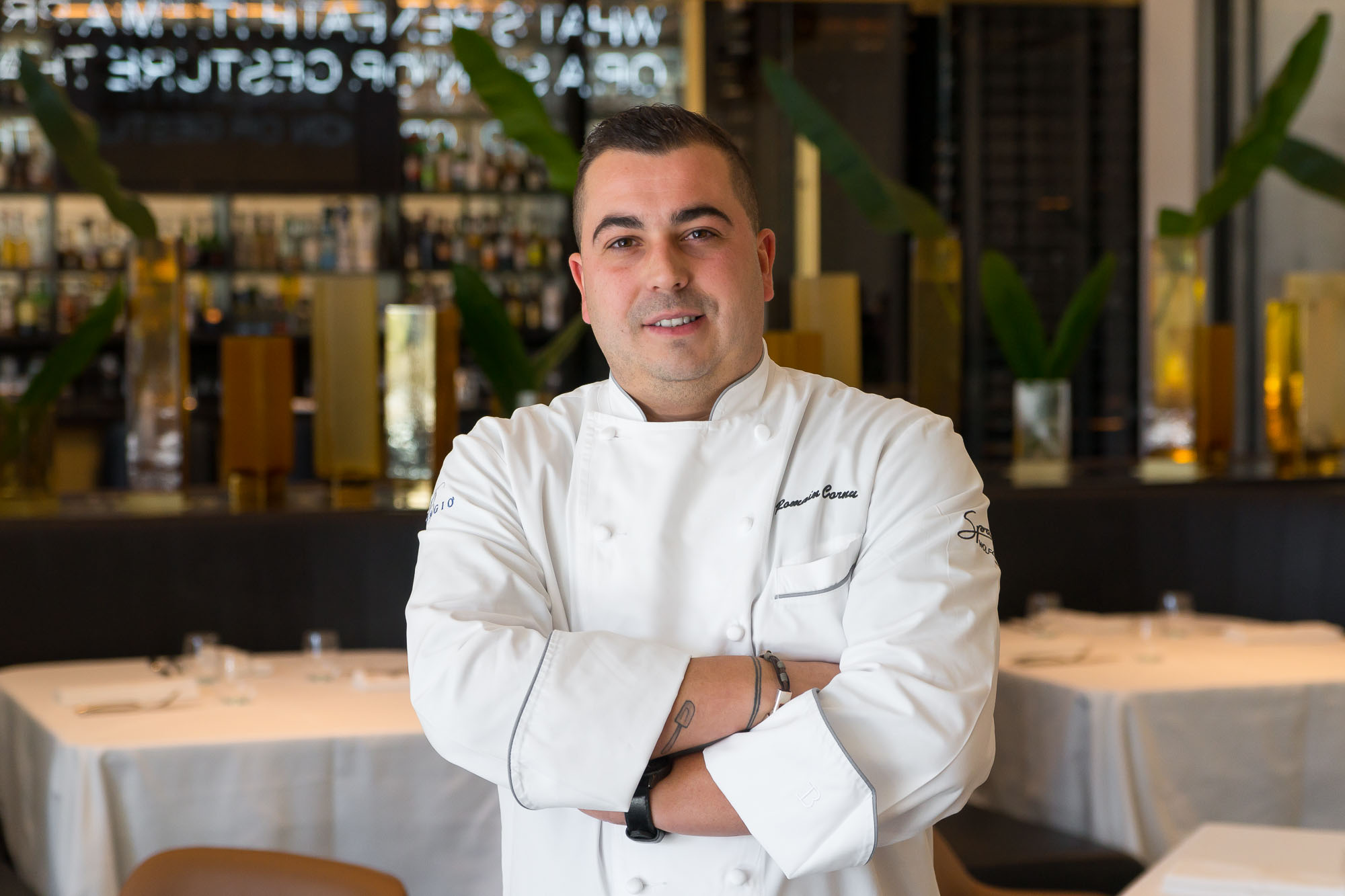 Spago's executive pastry chef Romaine Cornu