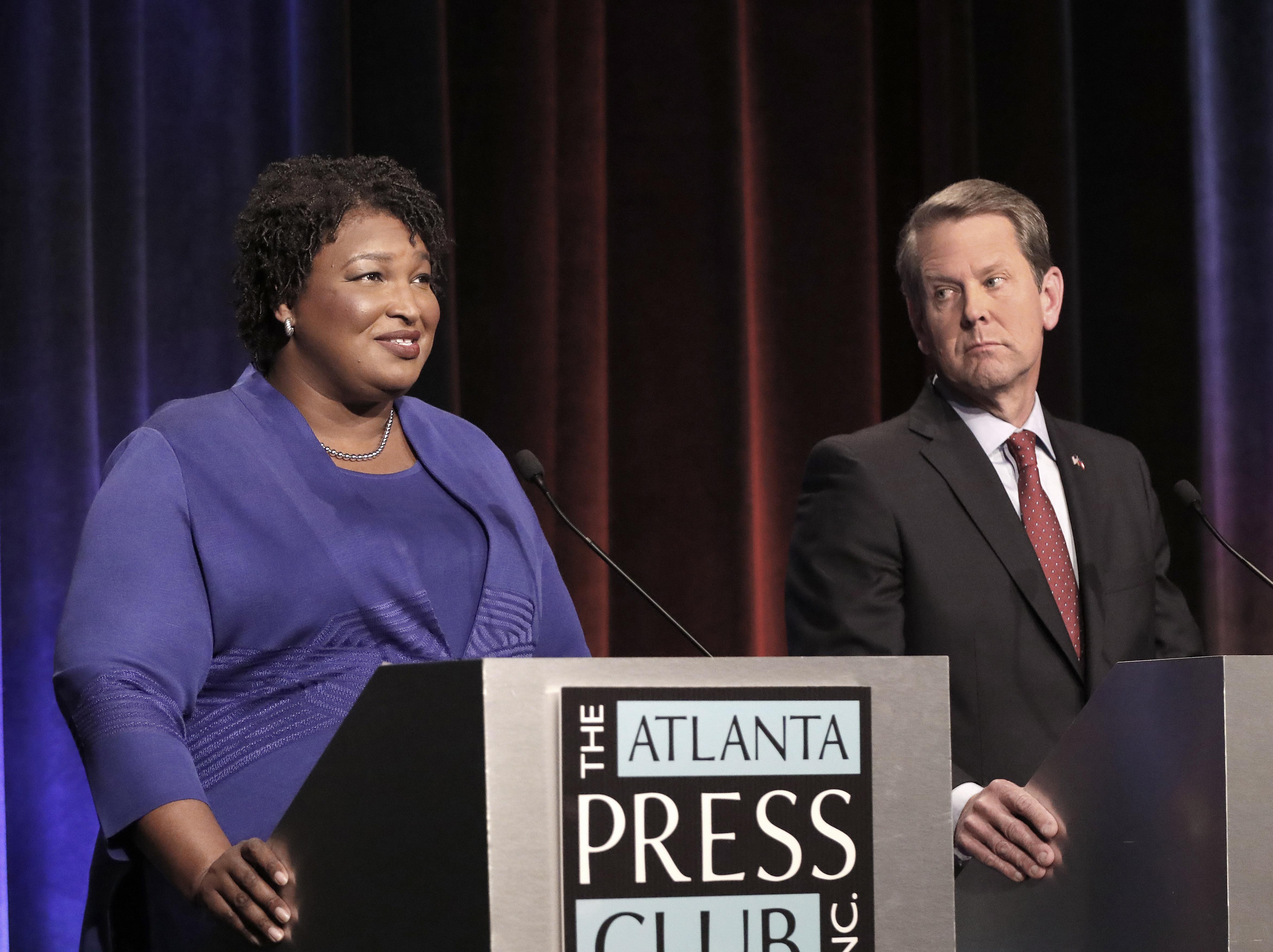 Georgia's gubernatorial candidates clash in a debate.