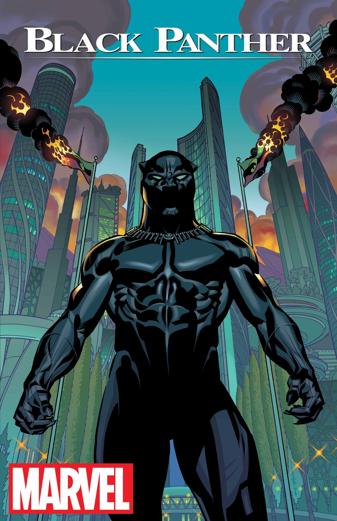 The cover to Coates's Black Panther (Marvel)