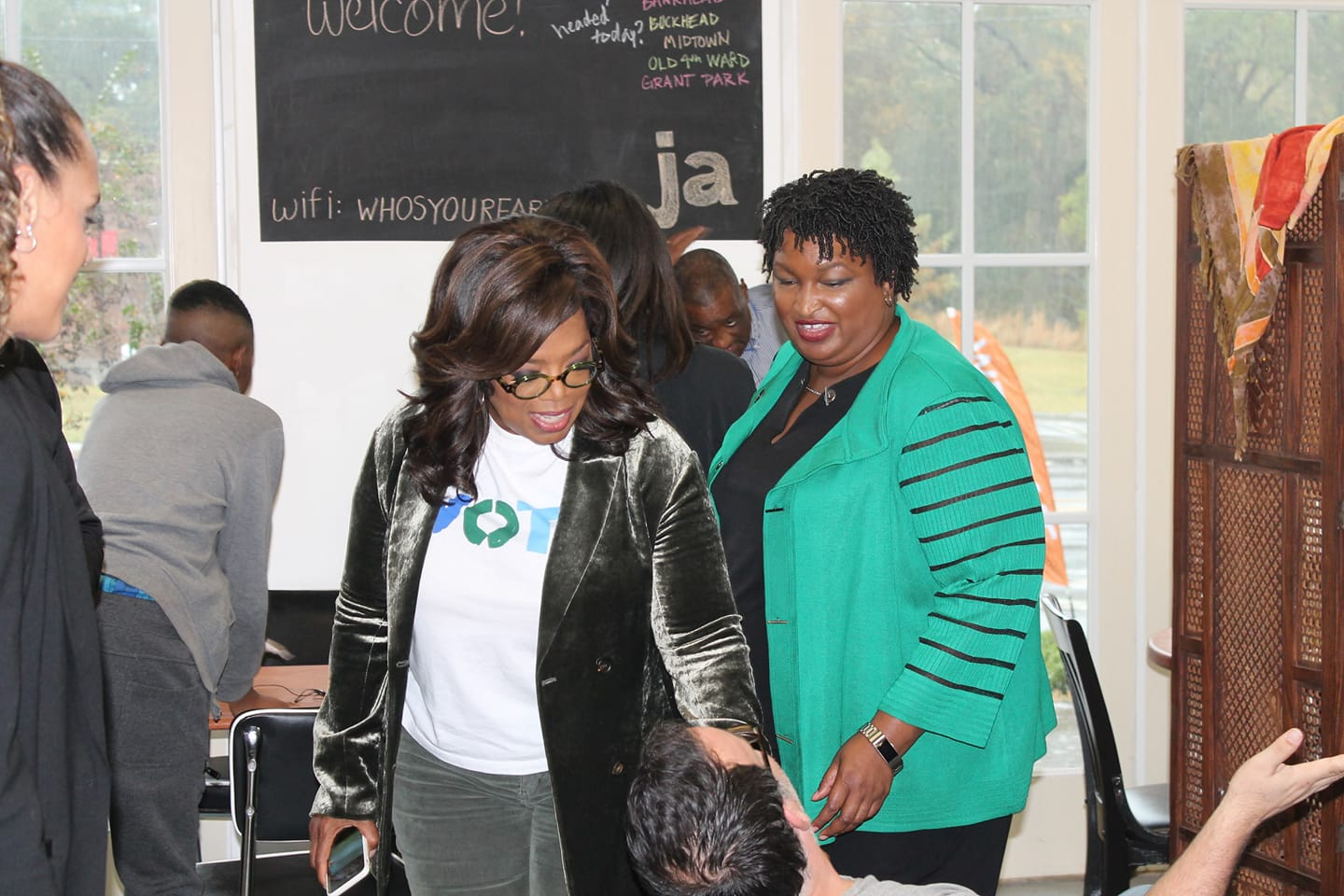 Oprah and Stacey Abrams visited Jim Adams Farm and Table in Bolton Village on Thursday