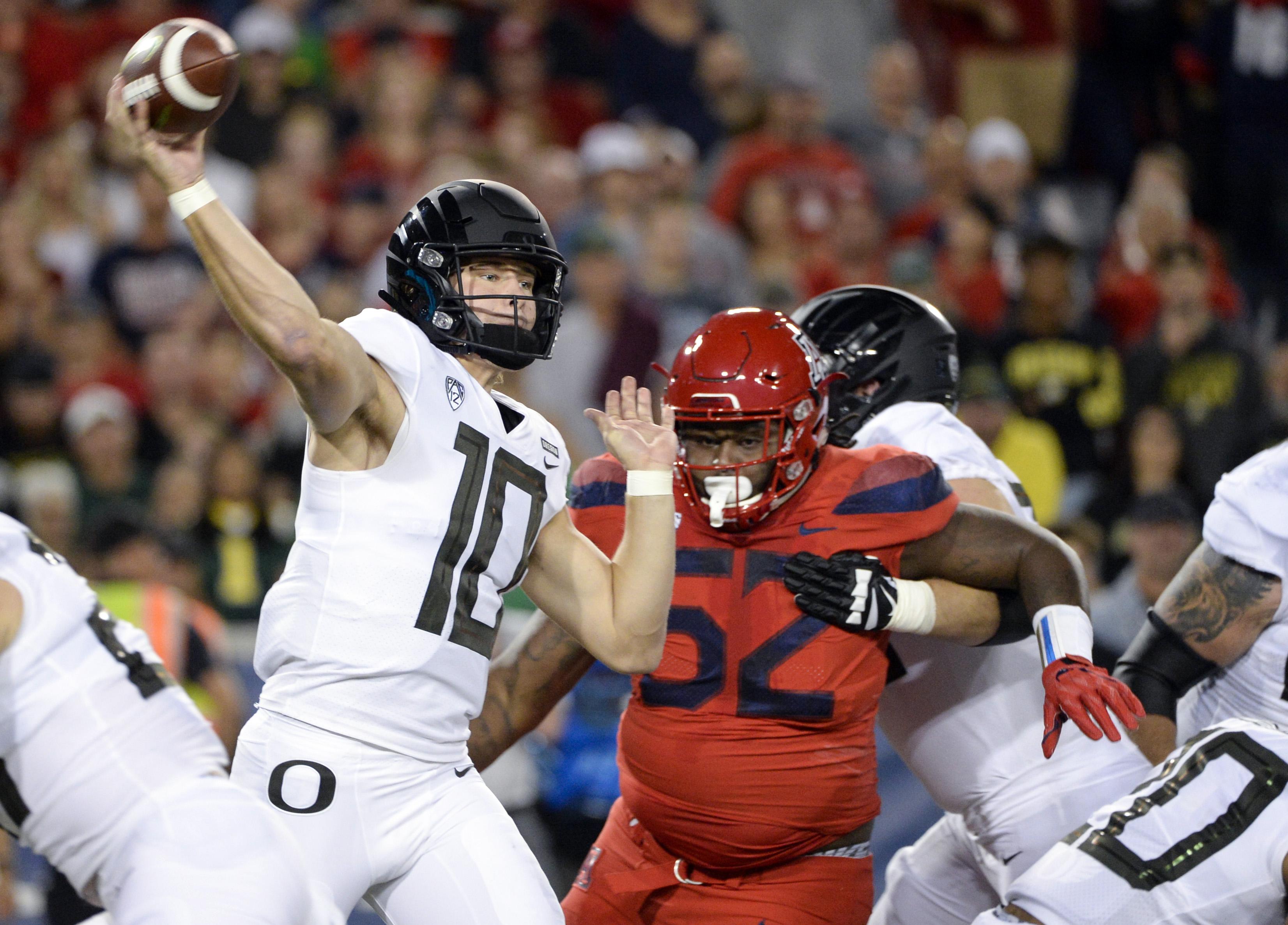 NCAA Football: Oregon at Arizona