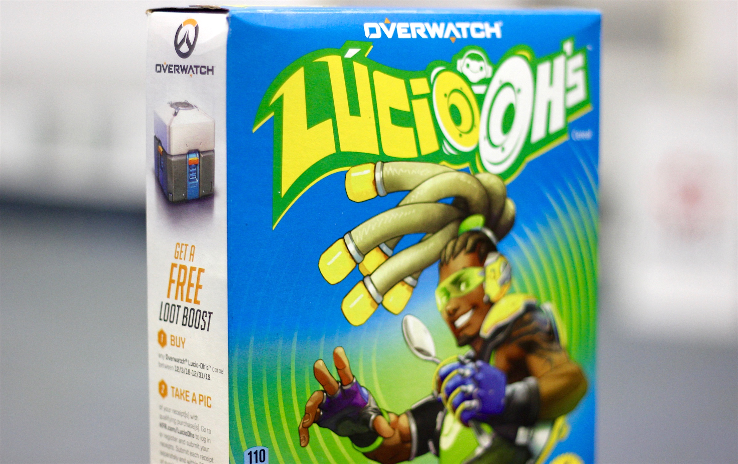 Photo of Lucio-Ohs cereal box