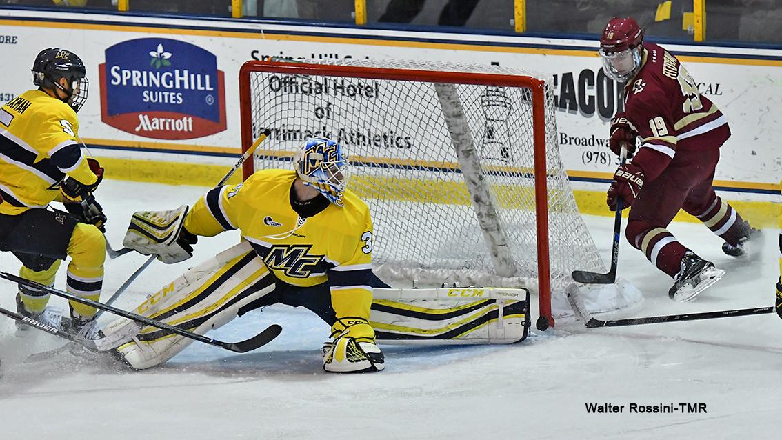 Hockey East: Boston College Men's Hockey Knocks Off Merrimack 4-1