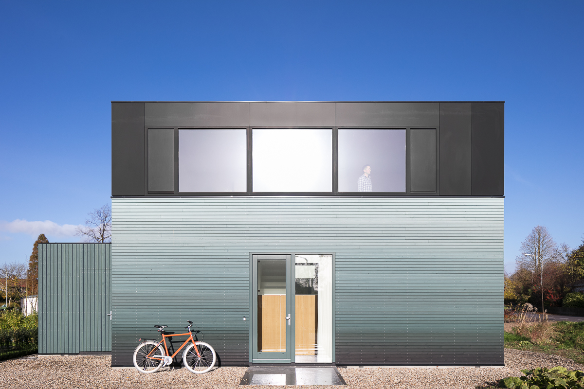 Modern home stands out with gradient facade