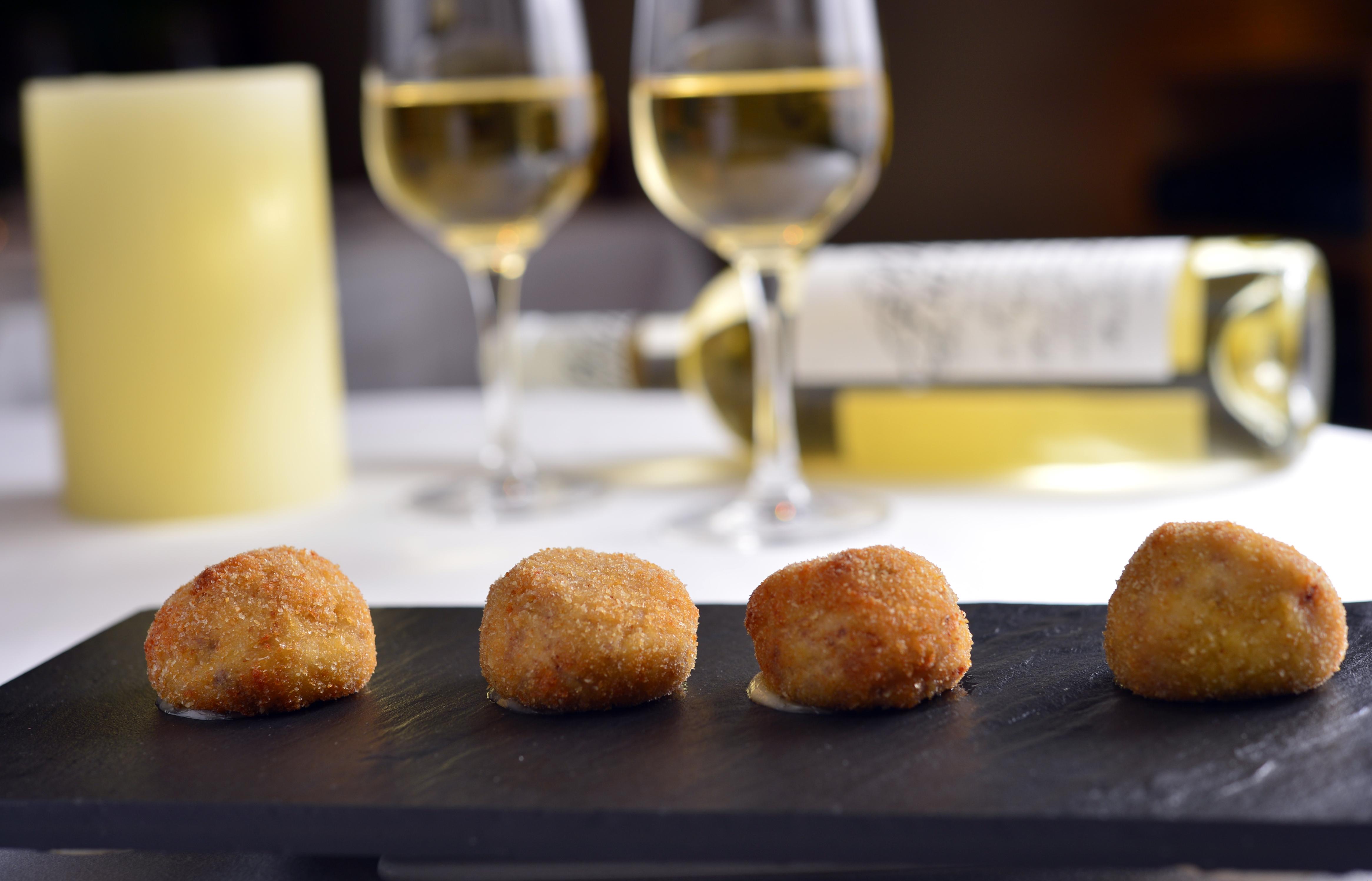 For Good Eating. Croqueta de Jamon, at Zelo Spanish restaurant & tapas bar. 01MAR13