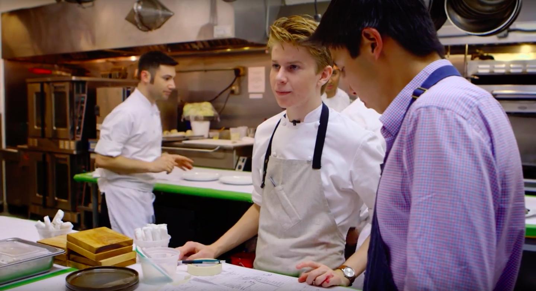 Flynn McGarry in a shot from Chef Flynn