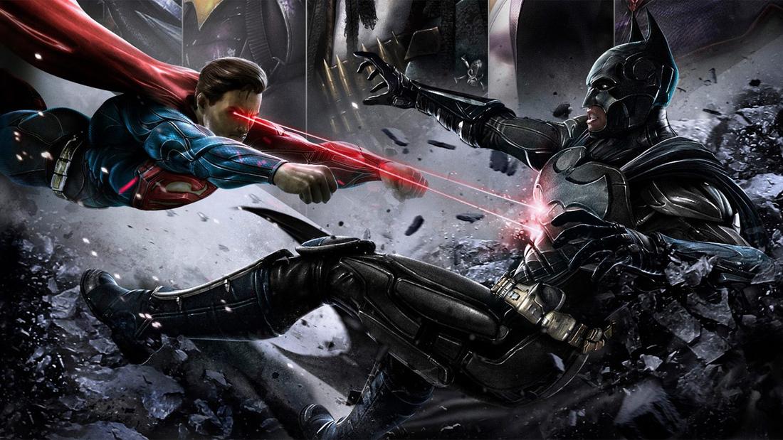 Injustice: Gods Among Us - Superman vs. Batman artwork