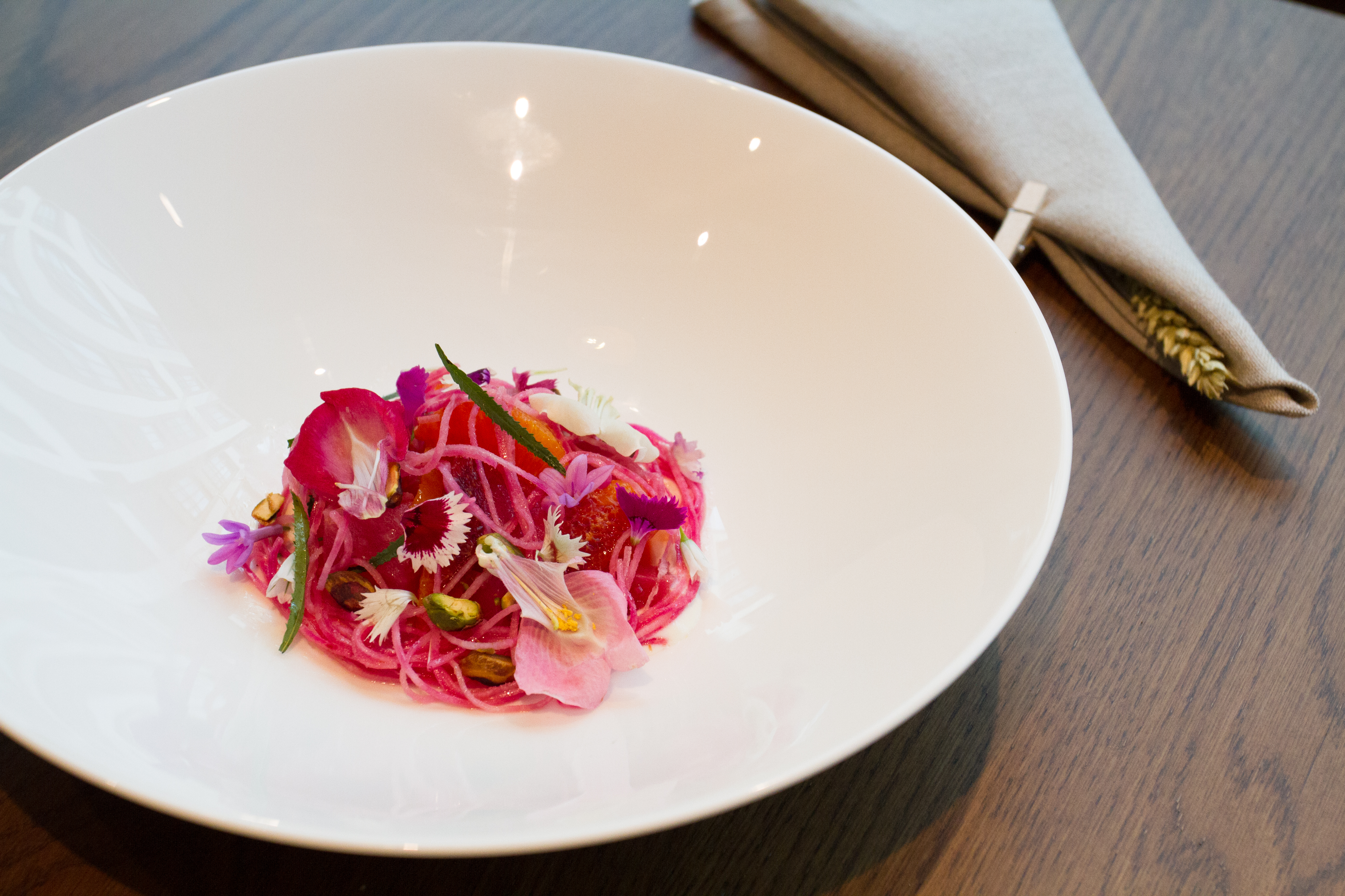 A dish at Michelin-starred restaurant Hide, which will launch the Hideaway pop up at Burlington Arcade on Piccadilly for Christmas 2018