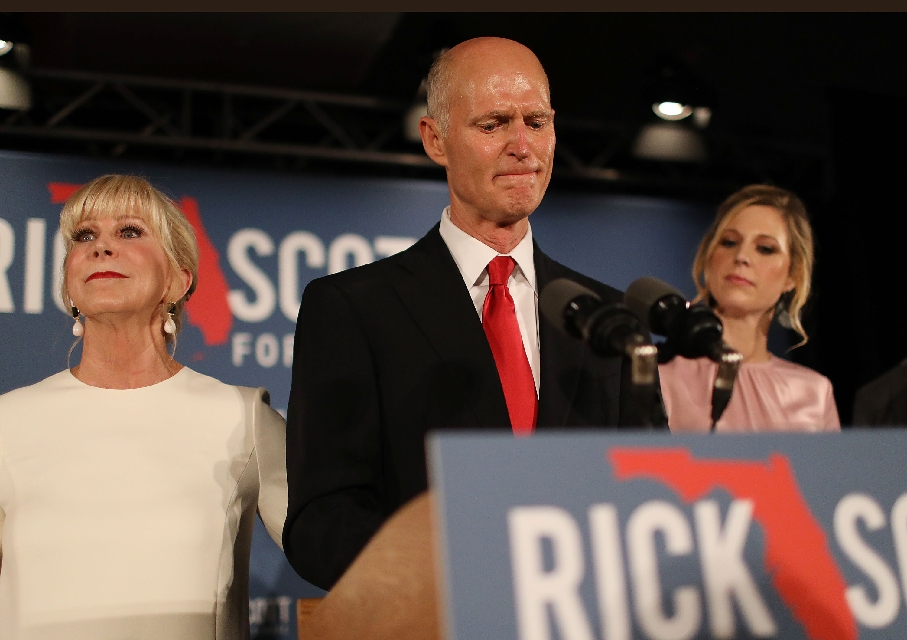 Florida Senate Candidate Rick Scott Attends Election Night Event In Naples