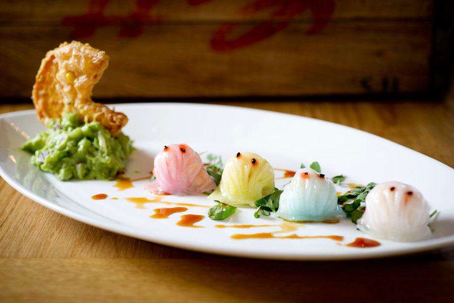 Red Farm London's Pac Man dumplings that impressed Guardian restaurant critic Grace Dent