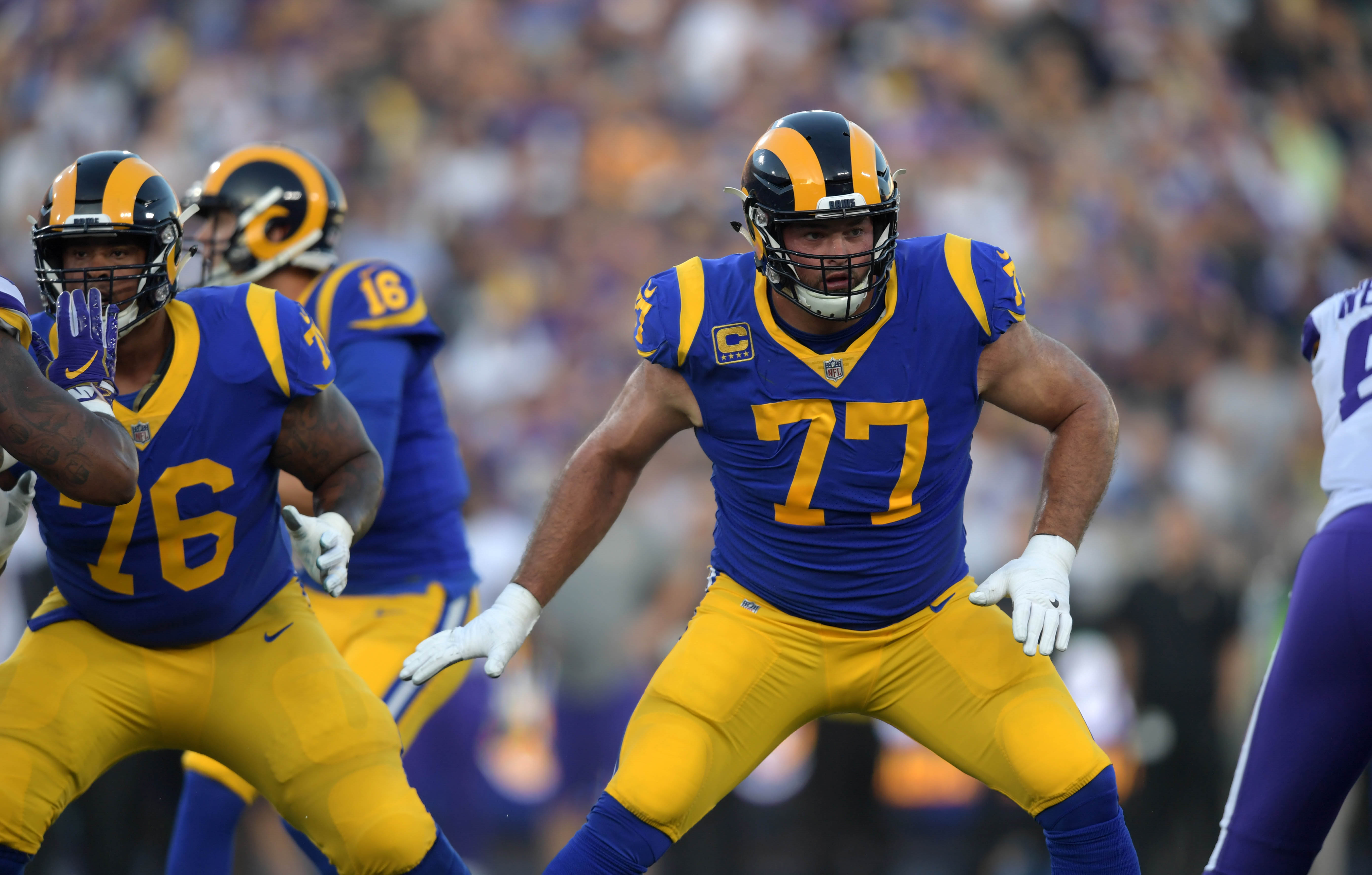 Rams tackle Andrew Whitworth donated his entire game check to victims of the Thousand Oaks shooting