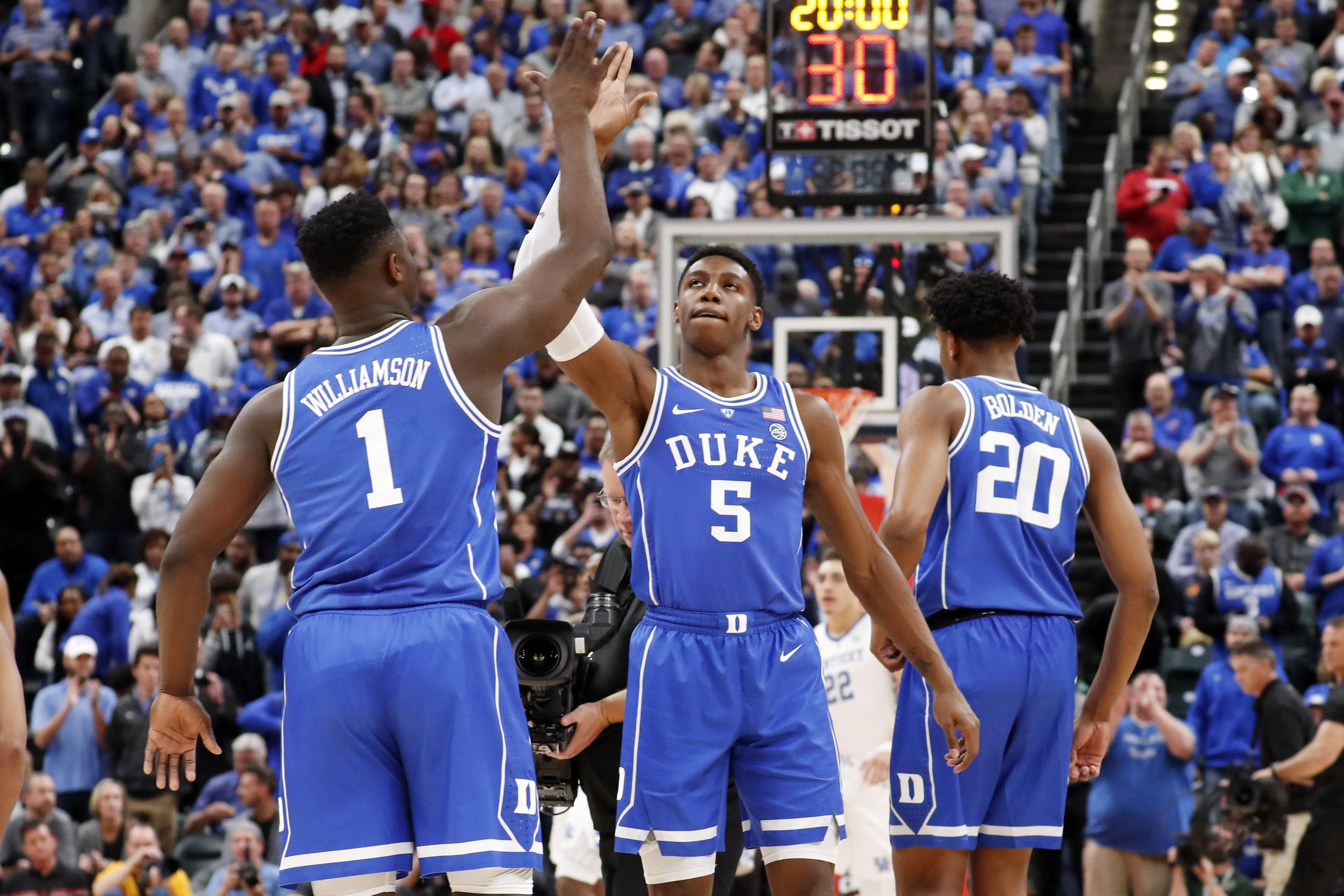 NCAA basketball rankings: Duke jumps to No. 1 after dismantling Kentucky