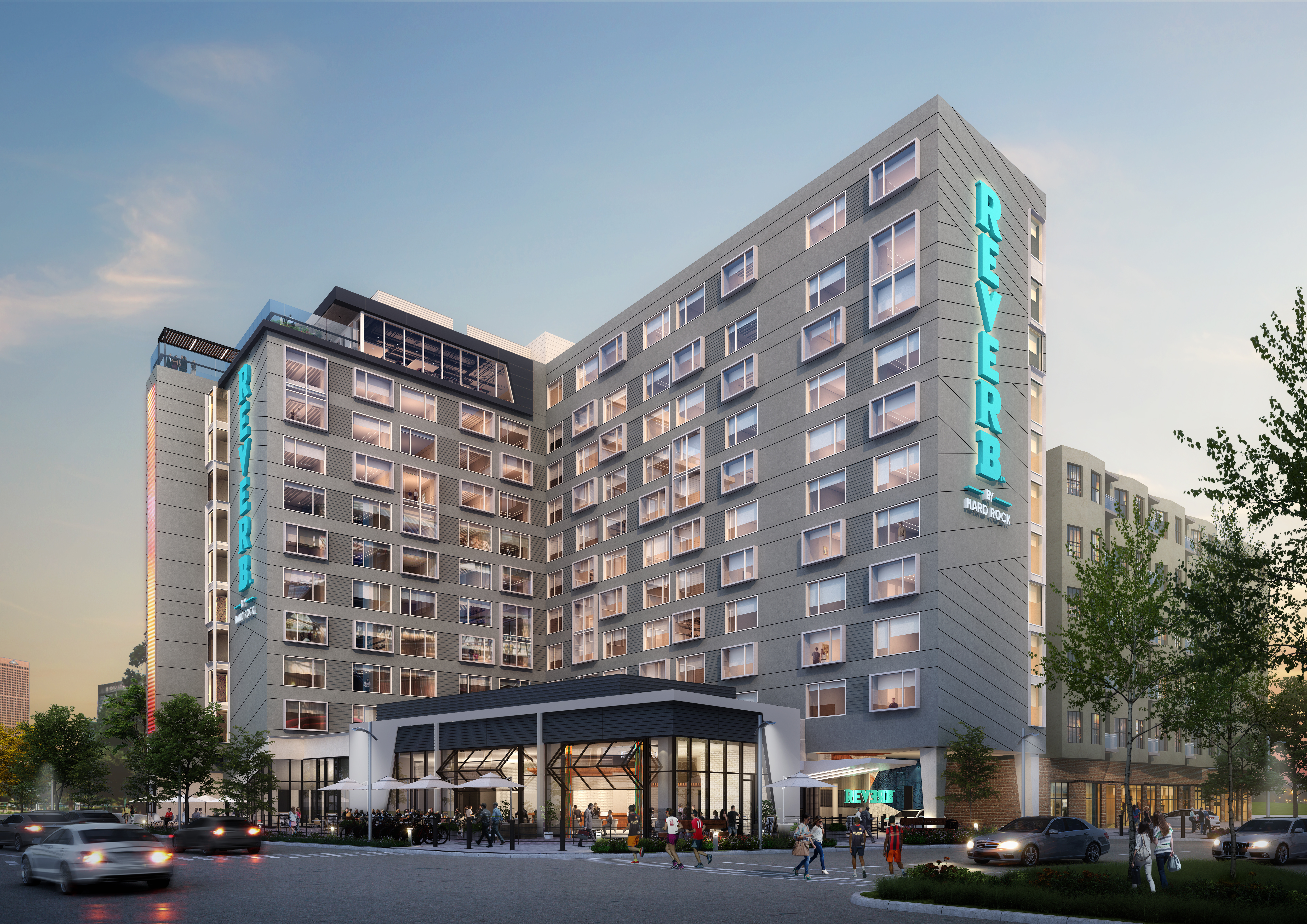 A revised look at the Hard Rock hotel in Castleberry Hill.