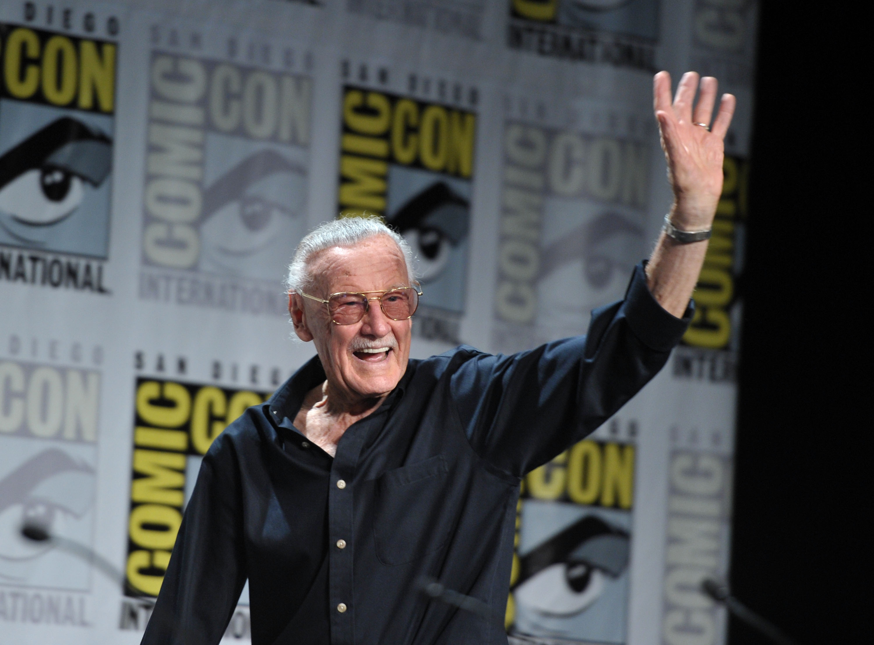 Stan Lee speaks at 'Blood Red Dragon' press conference at Comic-Con 2011