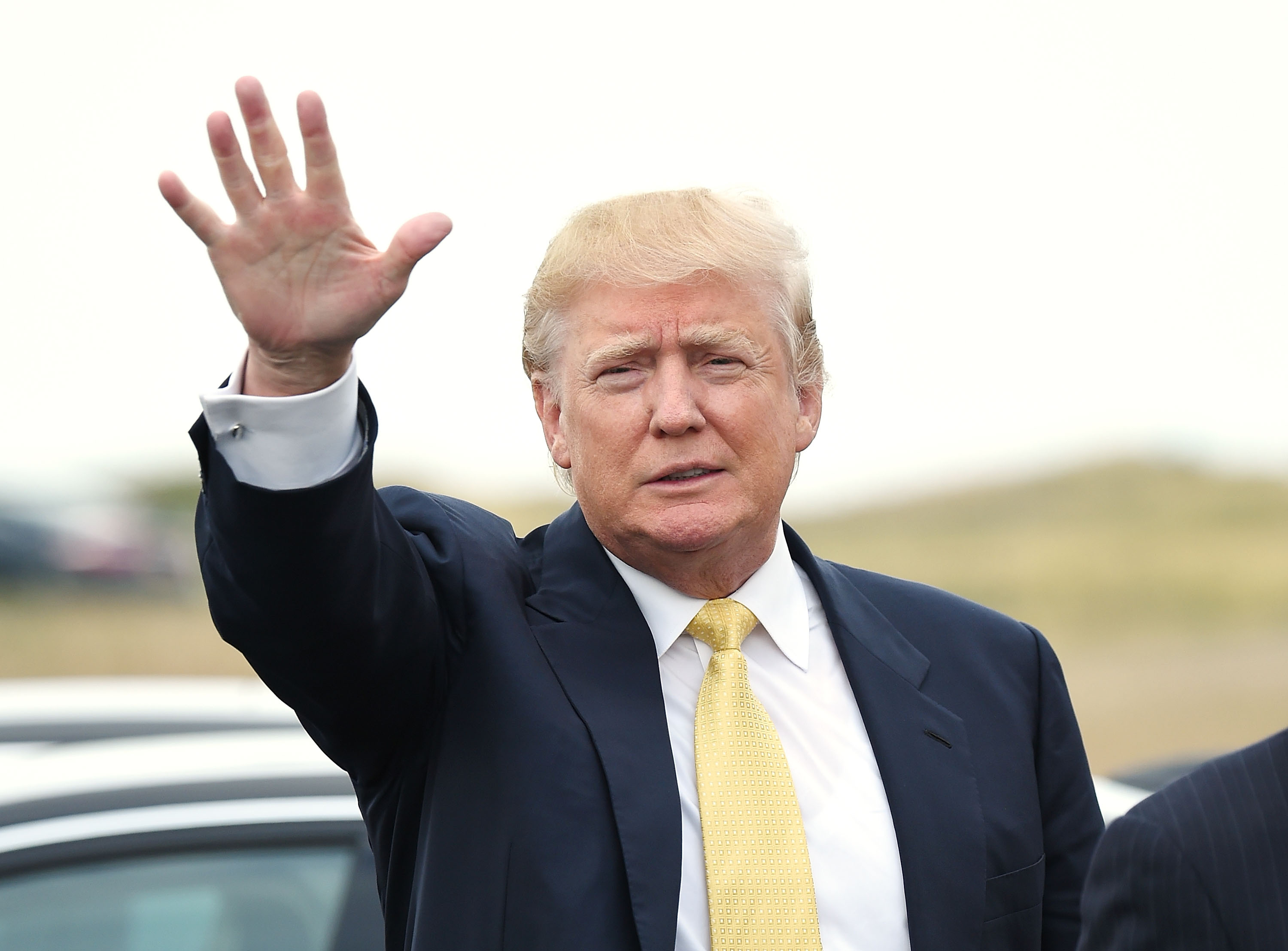 Donald Trump attends the 2015 Hank's Yanks Golf Classic at Trump Golf Links Ferry Point on July 6, 2015, in New York City.