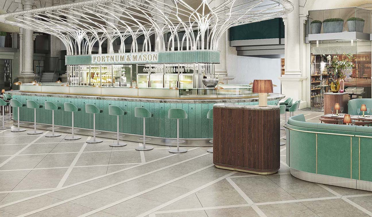Fortnum and Mason luxury department store will open a restaurant in the City of London for the first time