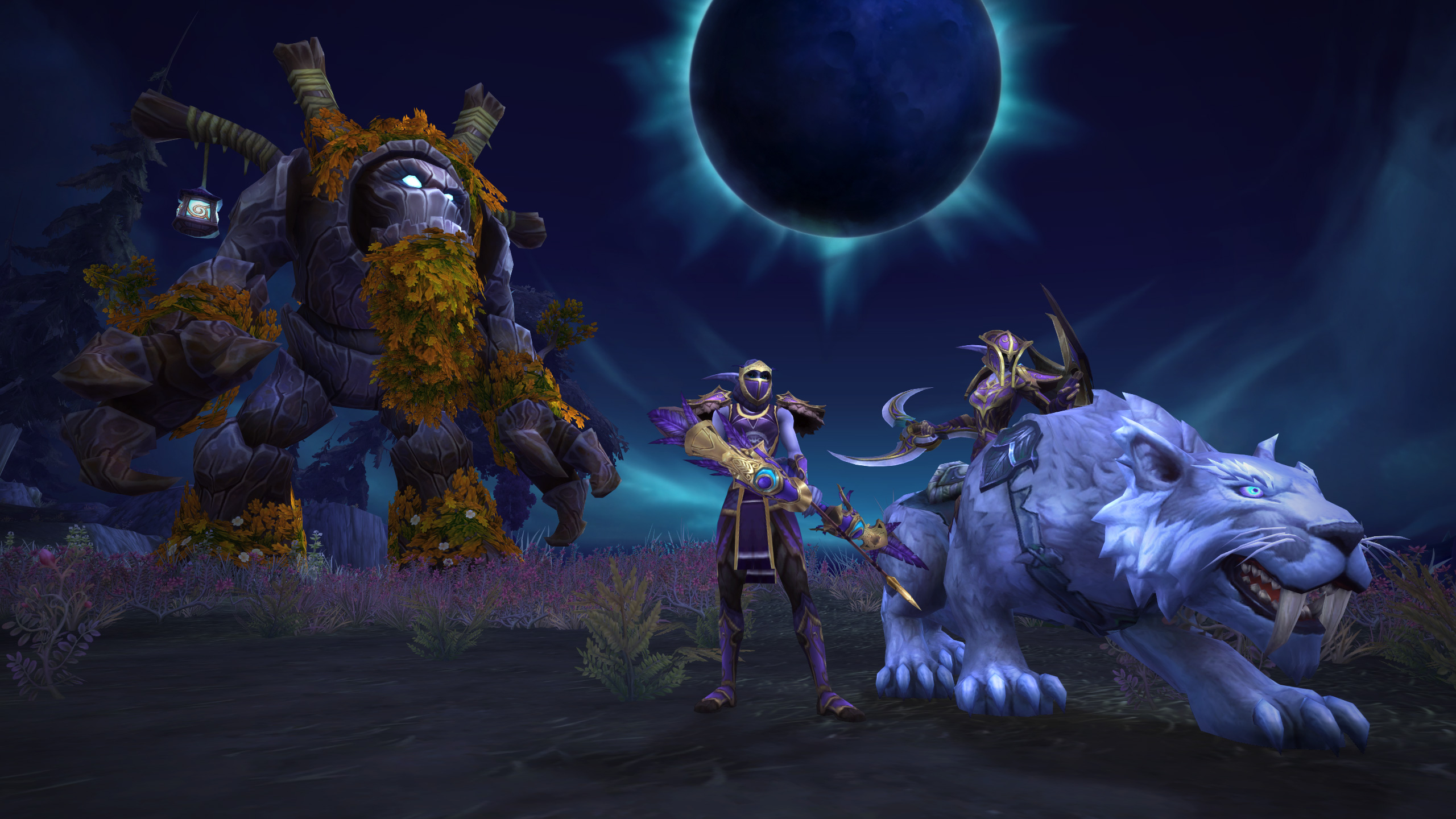 Night Elves get the spotlight in World of Warcraft, with