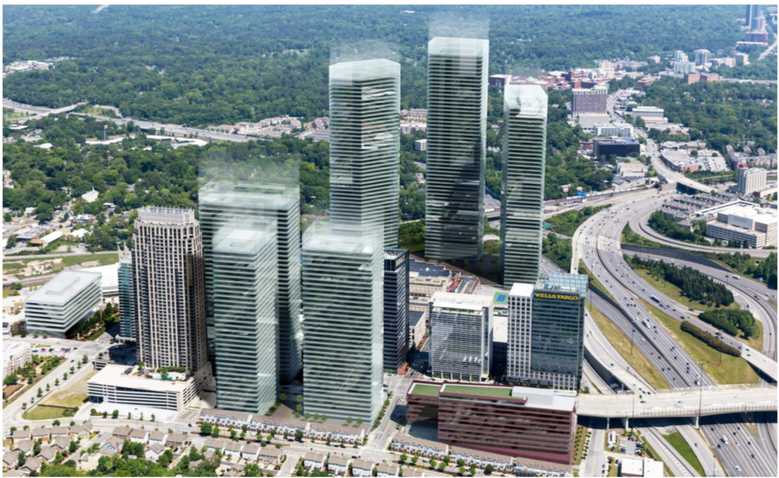 A rendering for HQ2 at Atlantic Station.