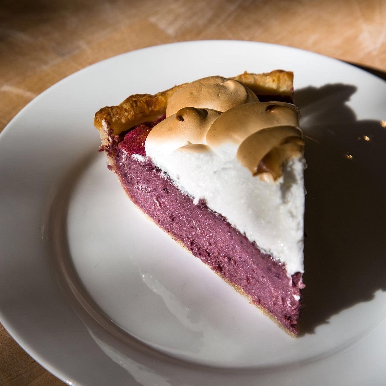 slice of purple sweet potato pie