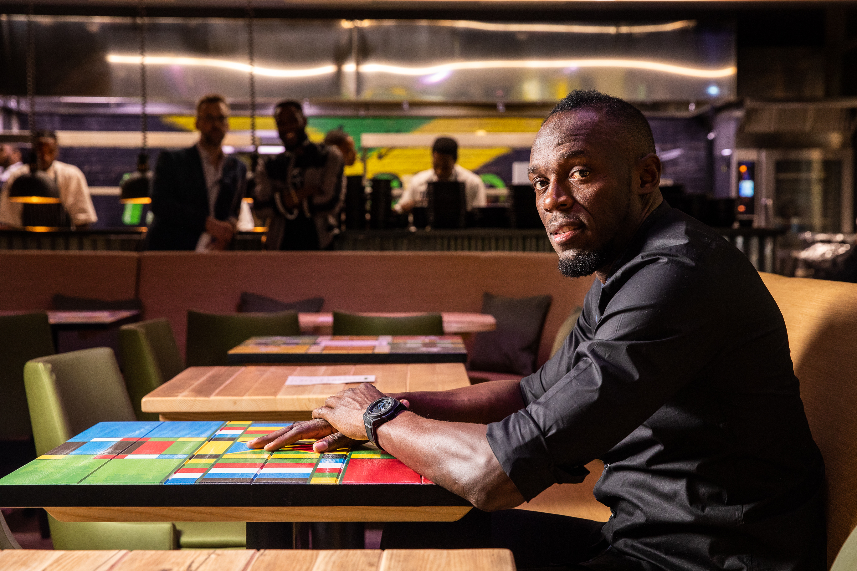 Usain Bolt's restaurant Tracks and Records in London is now open, owned by the world record sprinter and fastest man in history