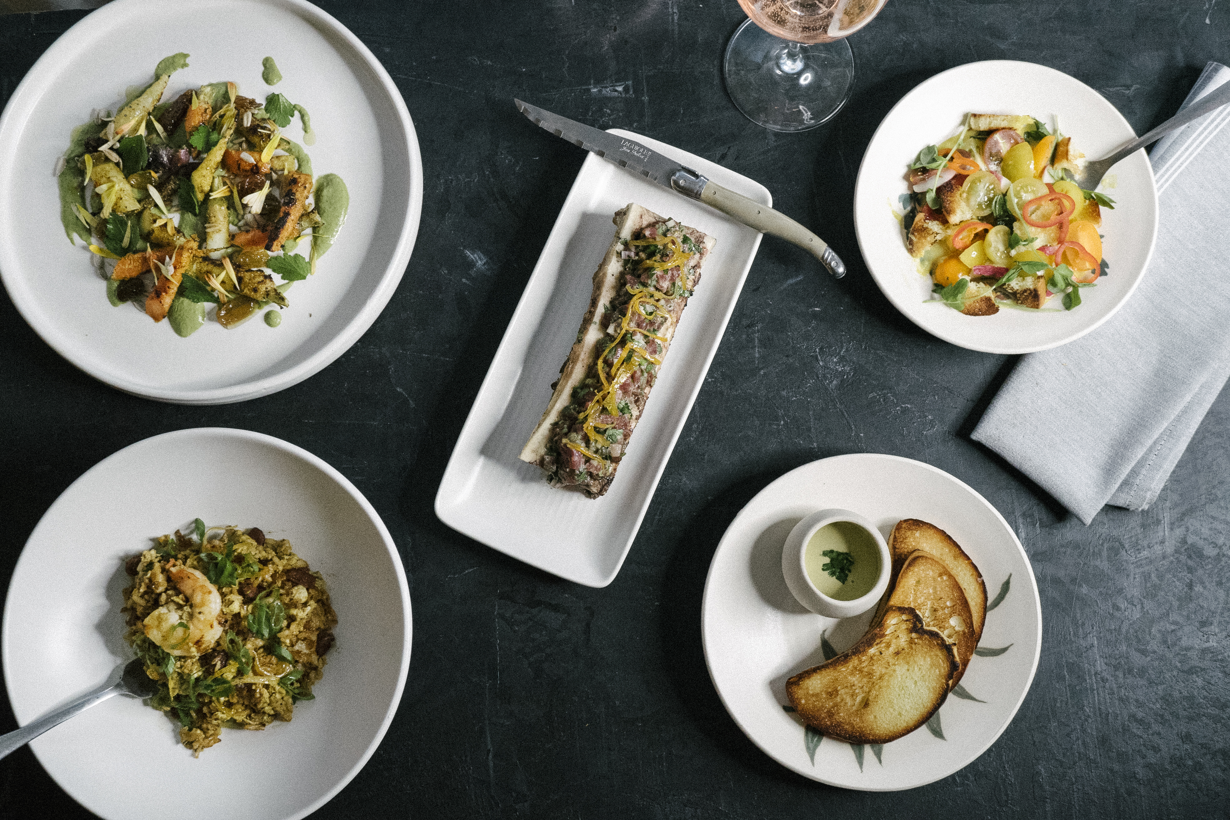 Various dishes from Rosewood