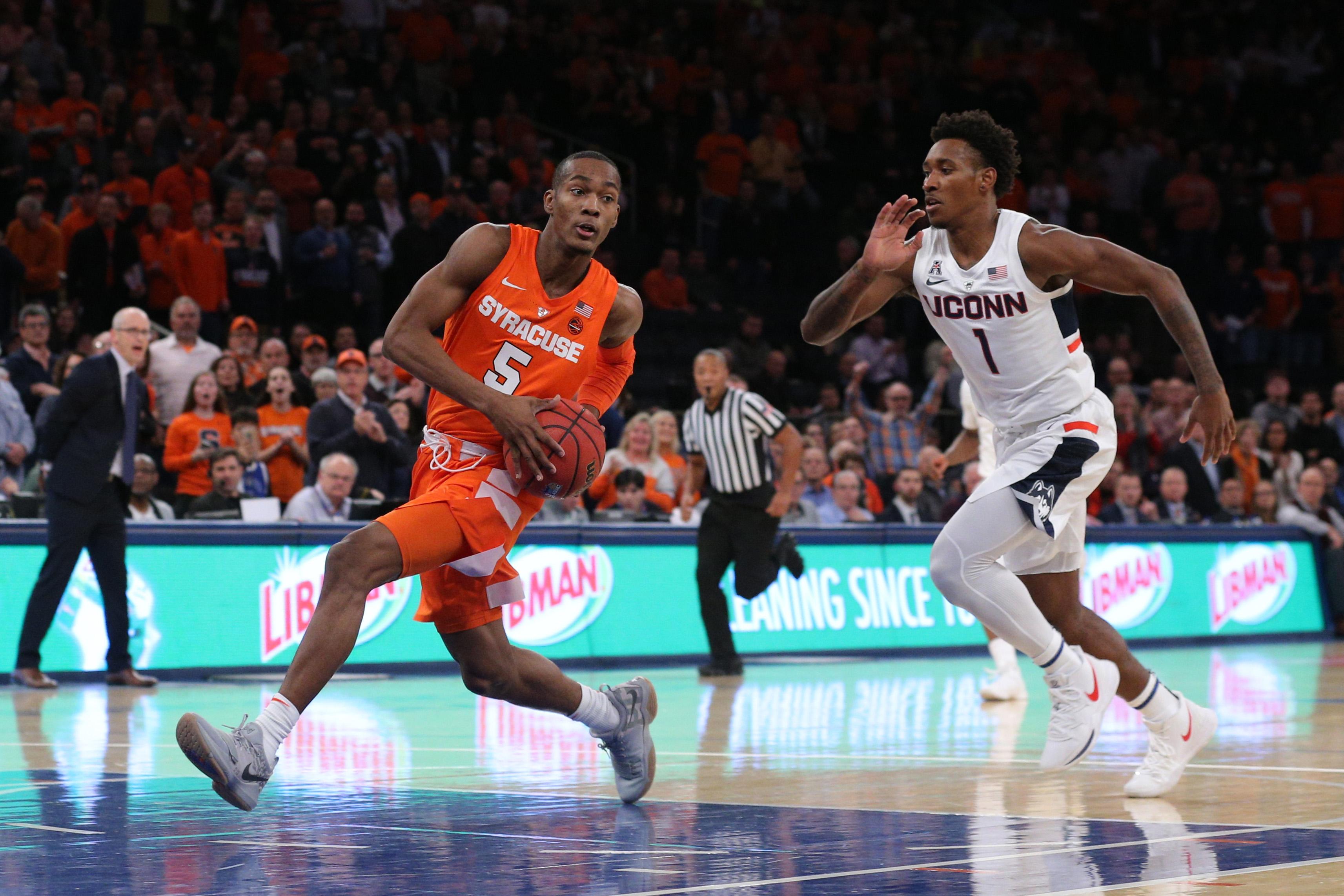 NCAA Basketball: Empire Classic-Connecticut at Syracuse