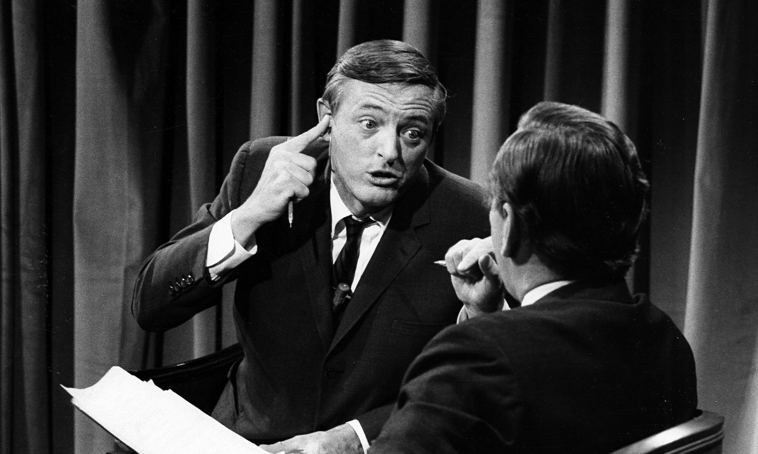 William F. Buckley Jr. shouts at Gore Vidal during the 1968 debates.